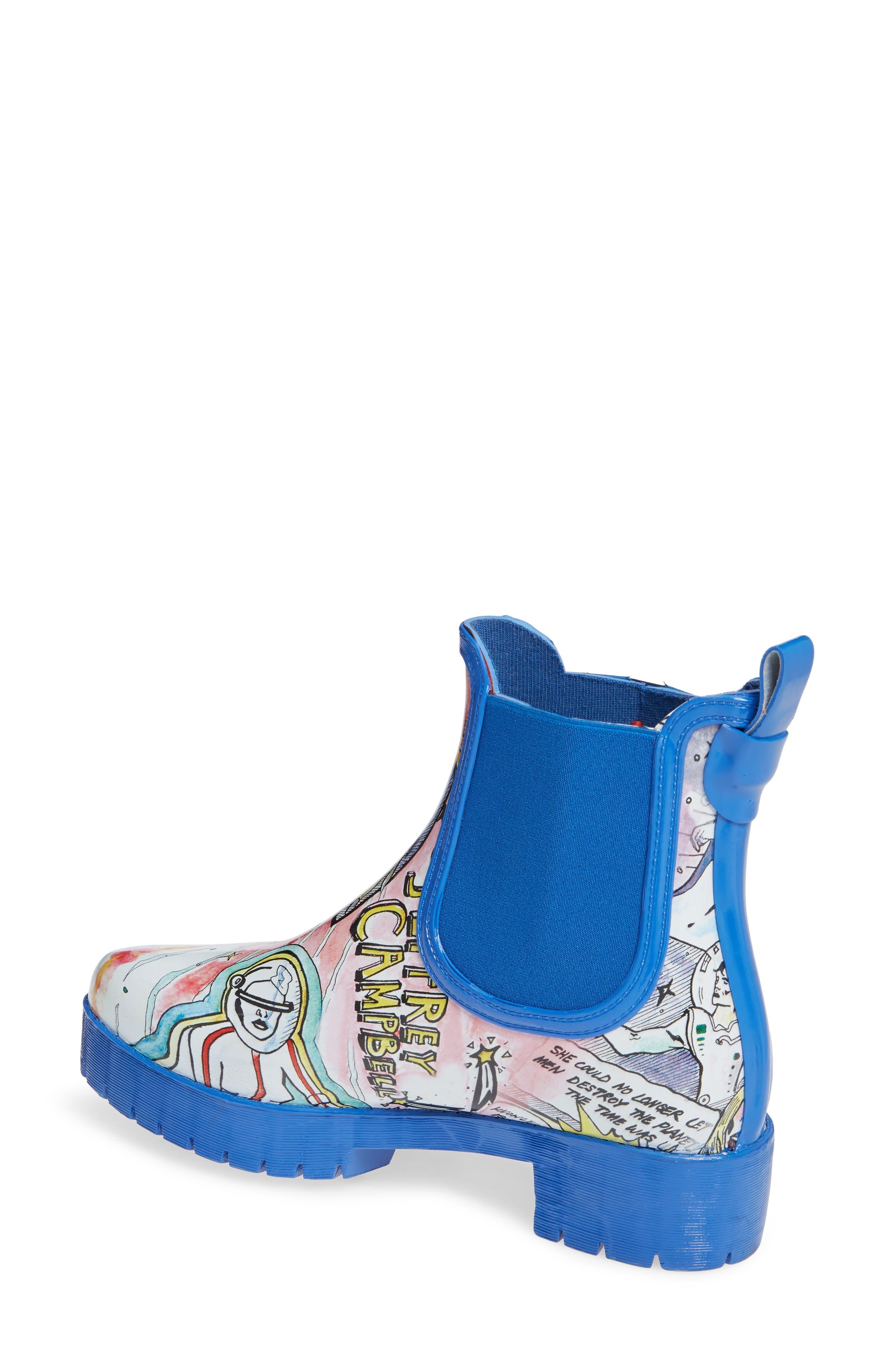 Cloudy Chelsea Rain Boot,                             Alternate thumbnail 2, color,                             COMIC PRINT