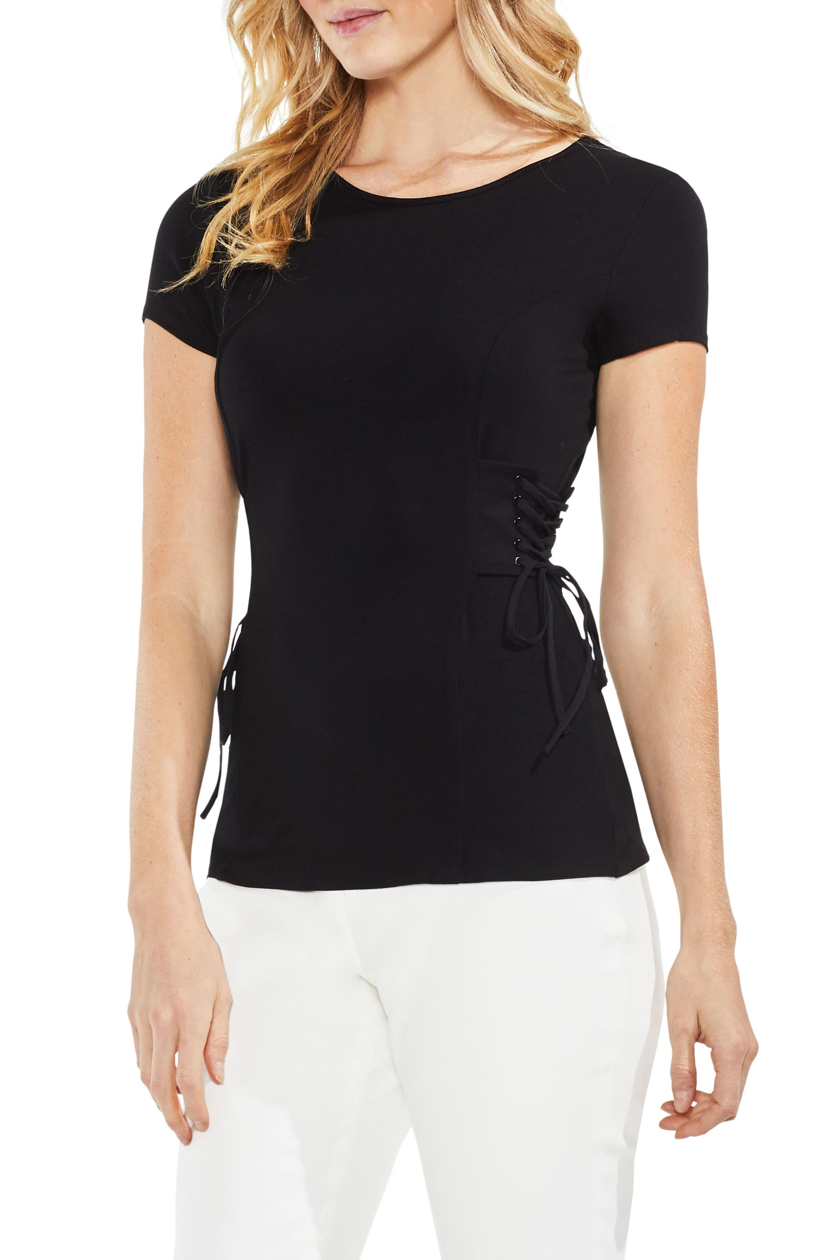 Side Lace-Up Top,                             Main thumbnail 1, color,                             006
