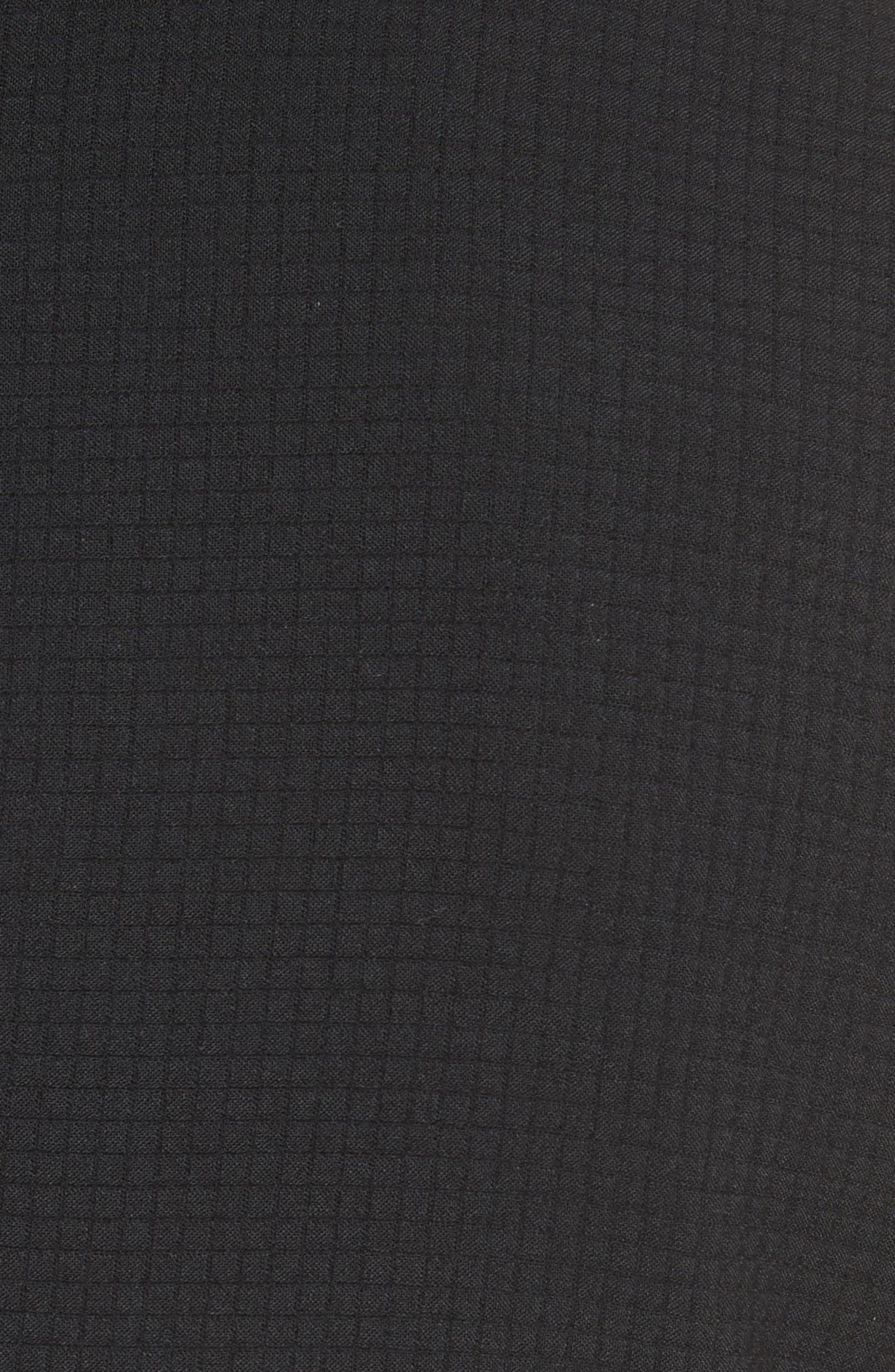 Ripstop Check Wool Blend Jacket,                             Alternate thumbnail 5, color,                             001