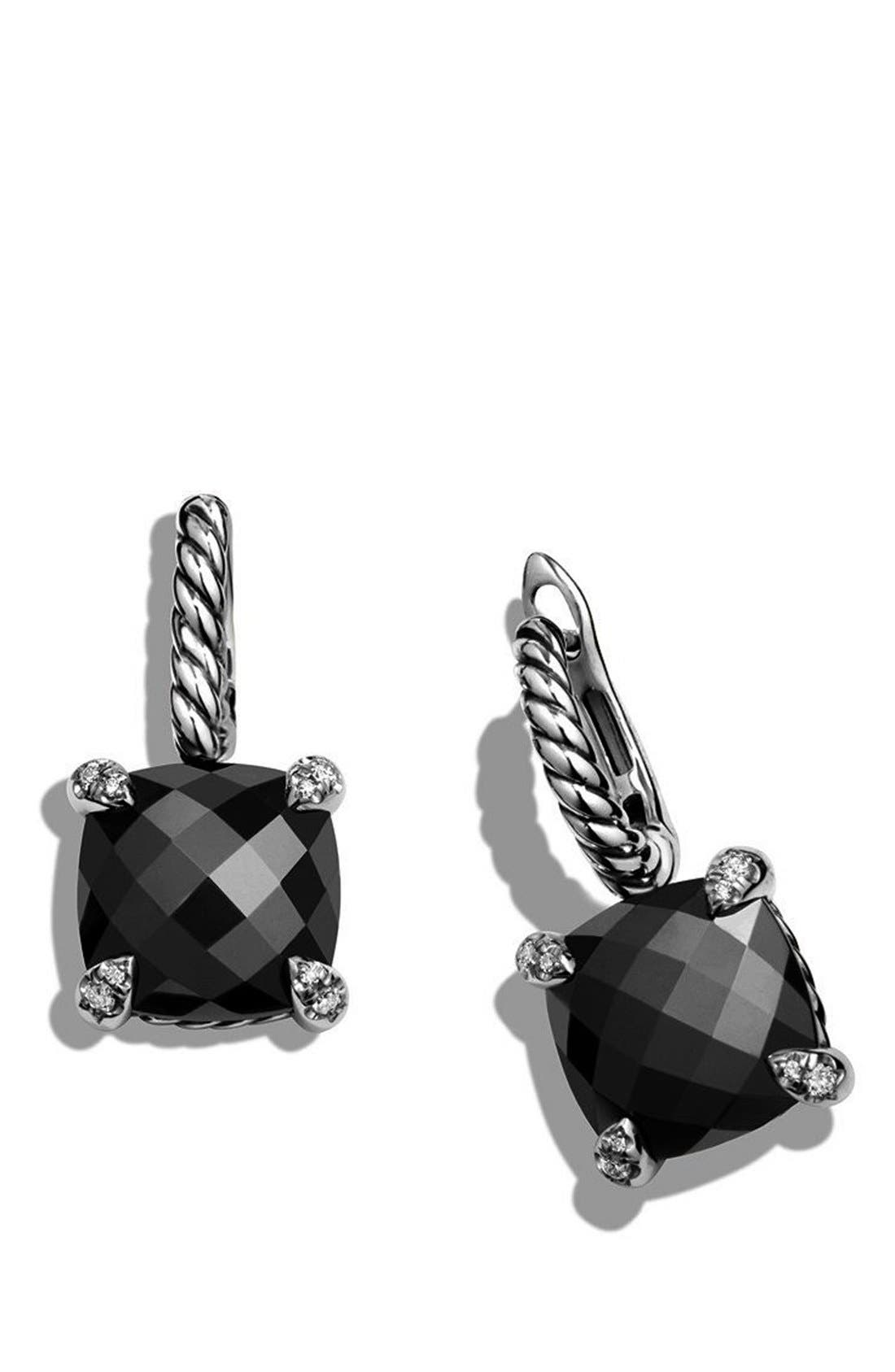 'Châtelaine' Drop Earrings with Semiprecious Stones and Diamonds,                             Alternate thumbnail 5, color,                             001