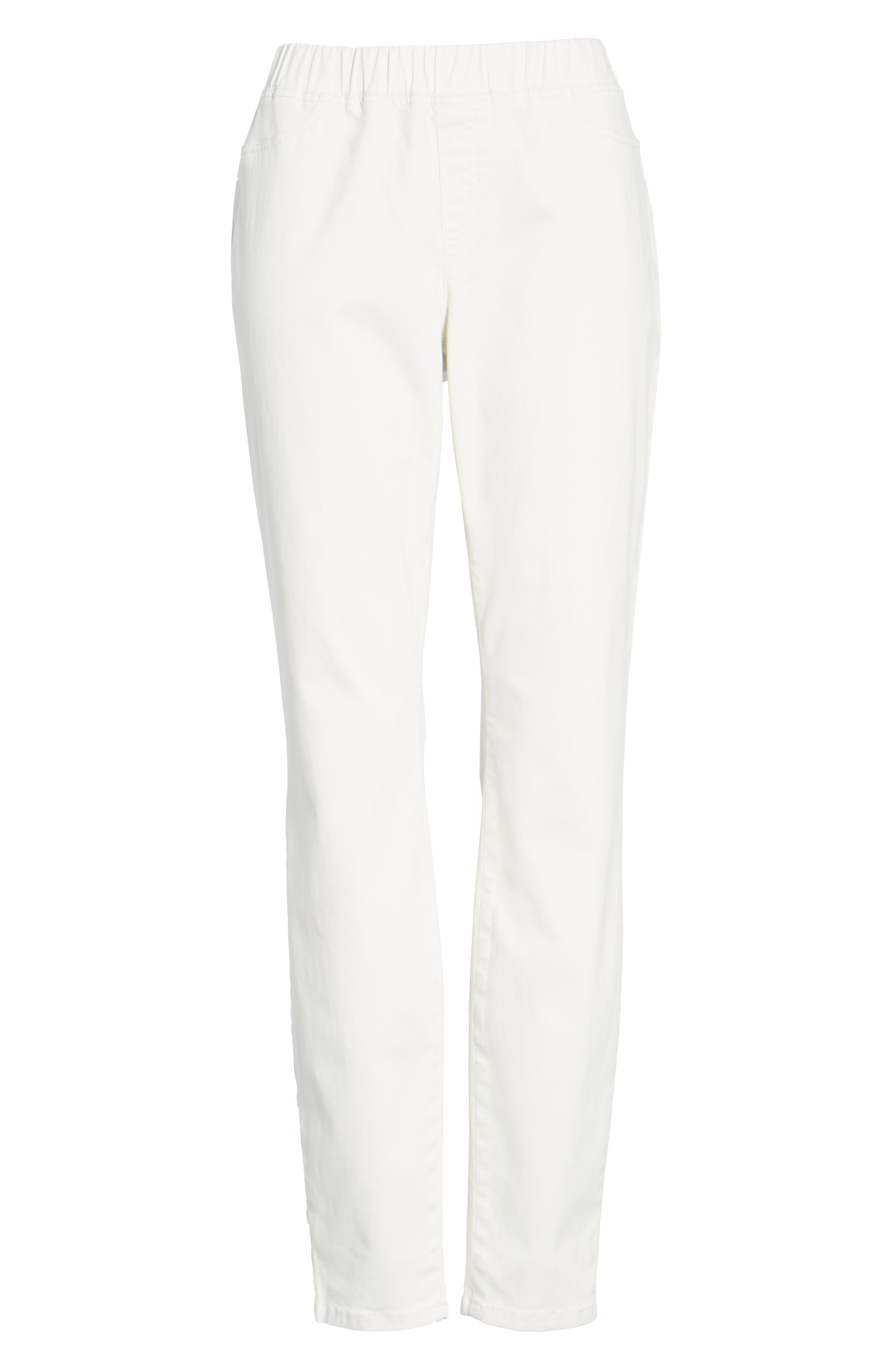 Stretch Organic Cotton Denim Skinny Pants,                             Alternate thumbnail 6, color,