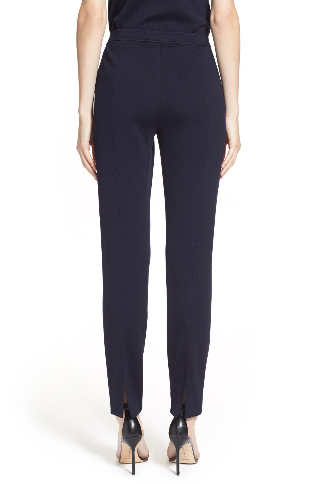 'Alexa' Stretch Milano Knit Ankle Pants,                             Alternate thumbnail 6, color,                             NAVY