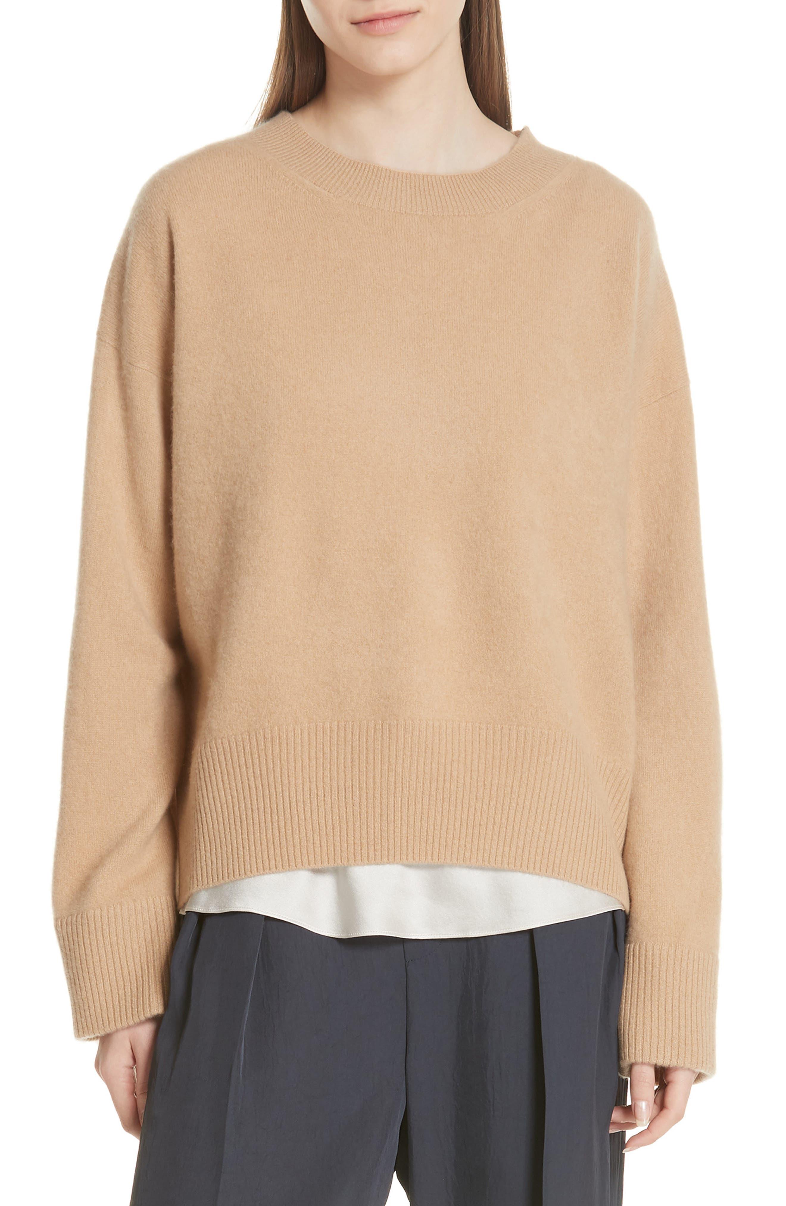 Cashmere Oversize Sweater,                             Main thumbnail 1, color,                             203