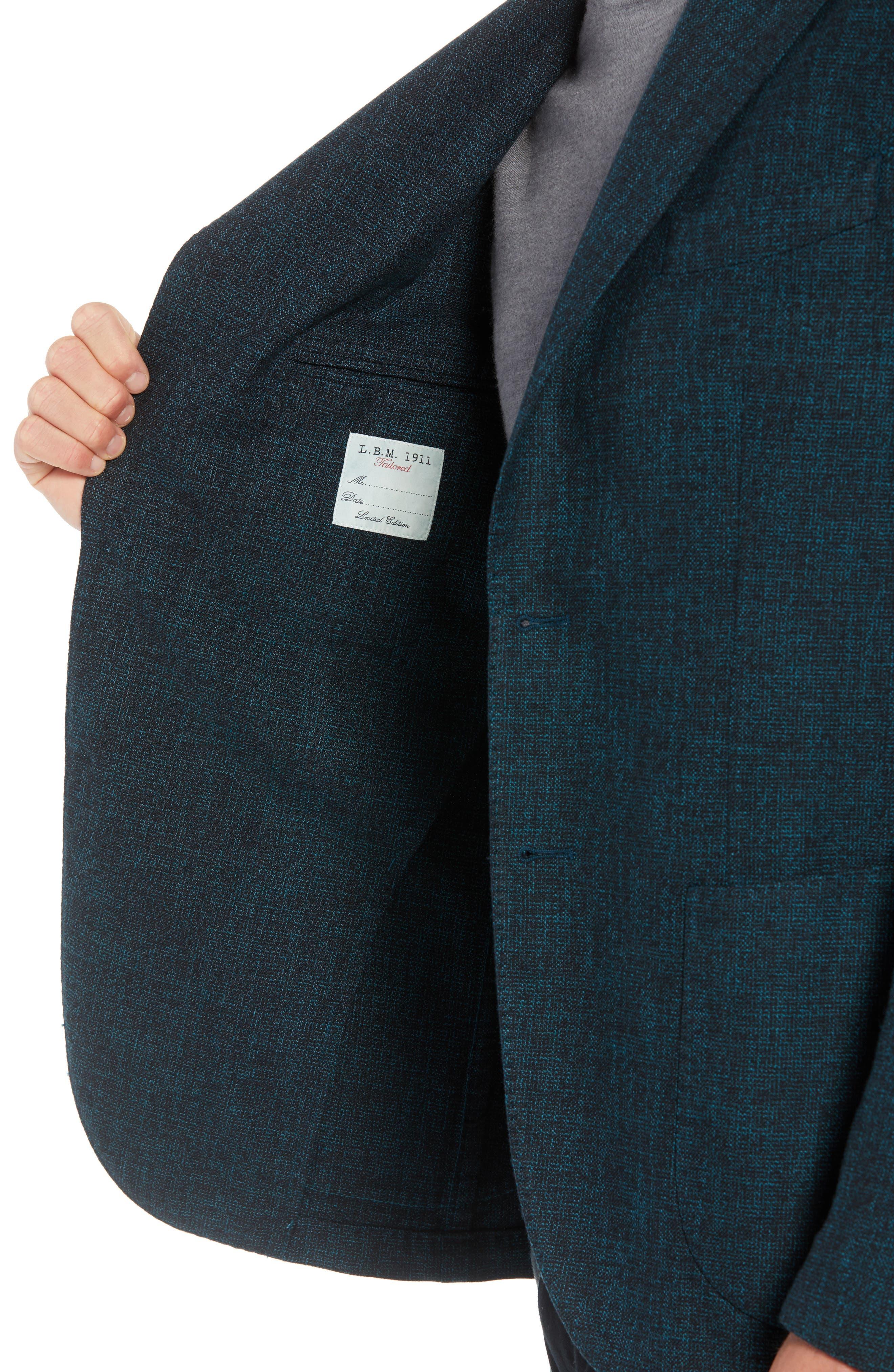L.B.M 1911 Classic Fit Cotton & Wool Blazer,                             Alternate thumbnail 4, color,                             GREEN