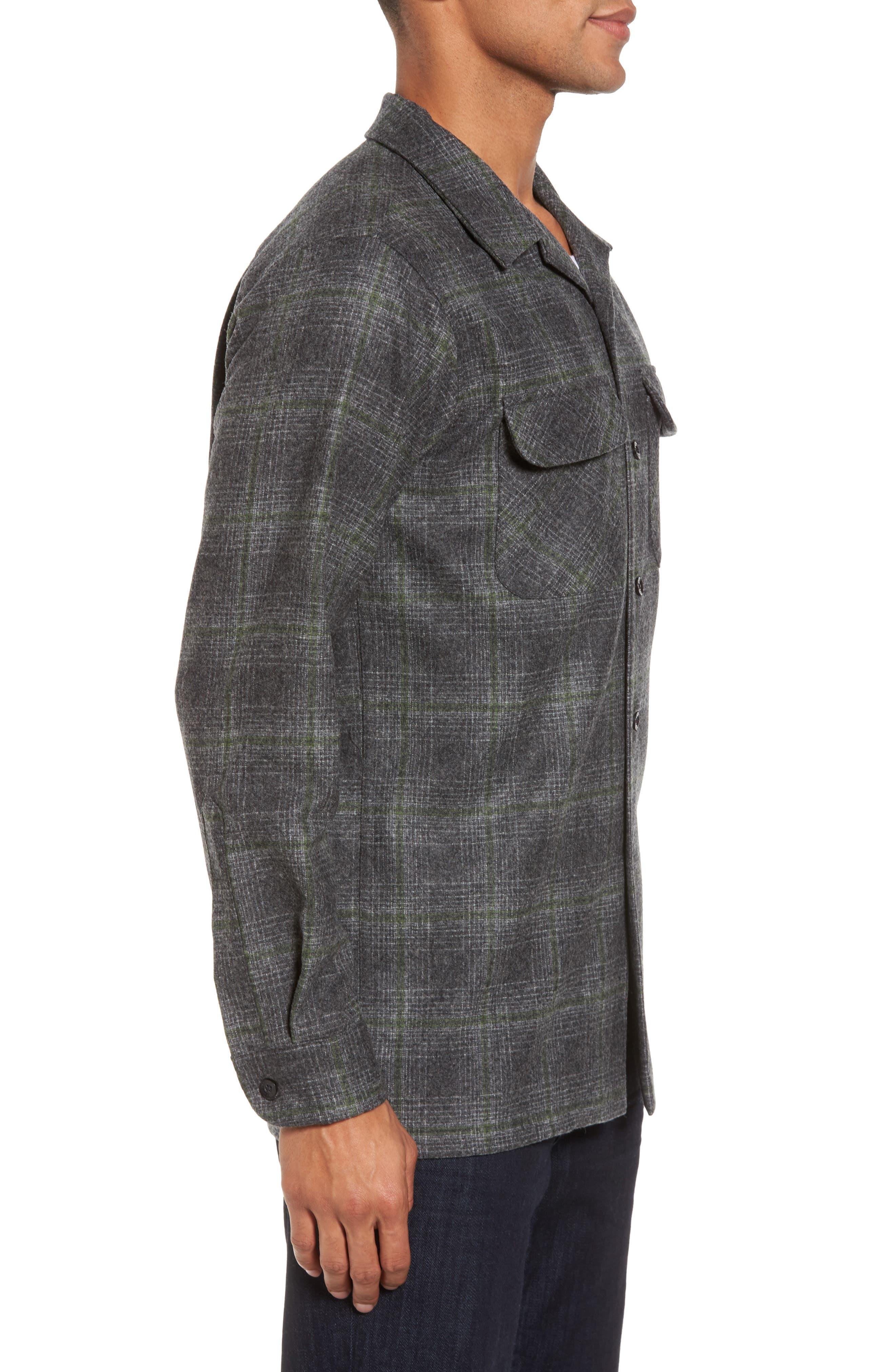 'Board' Regular Fit Flannel Shirt,                             Alternate thumbnail 3, color,                             031