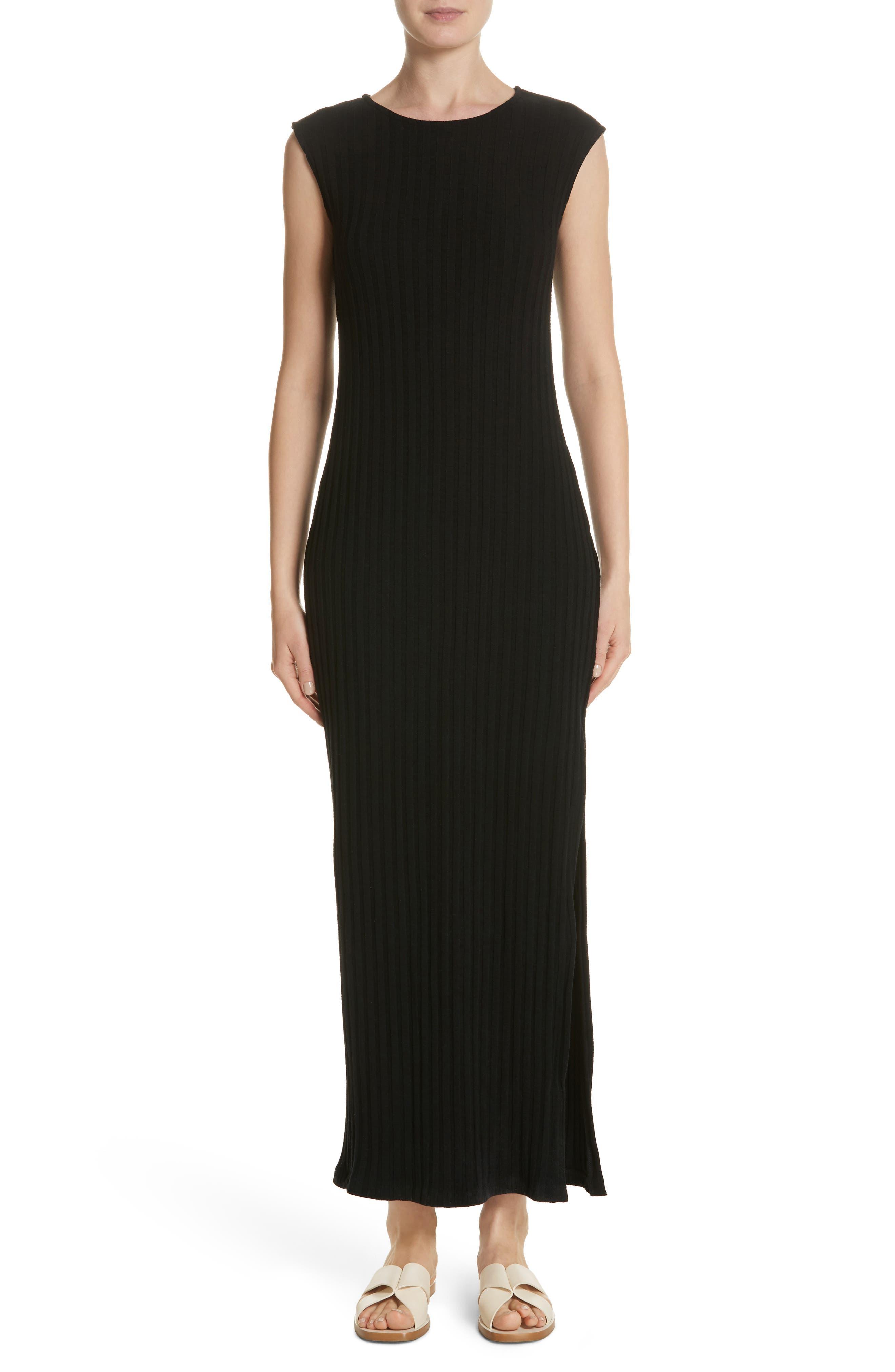 Tali Stretch Ribbed Body-Con Dress,                         Main,                         color, BLACK