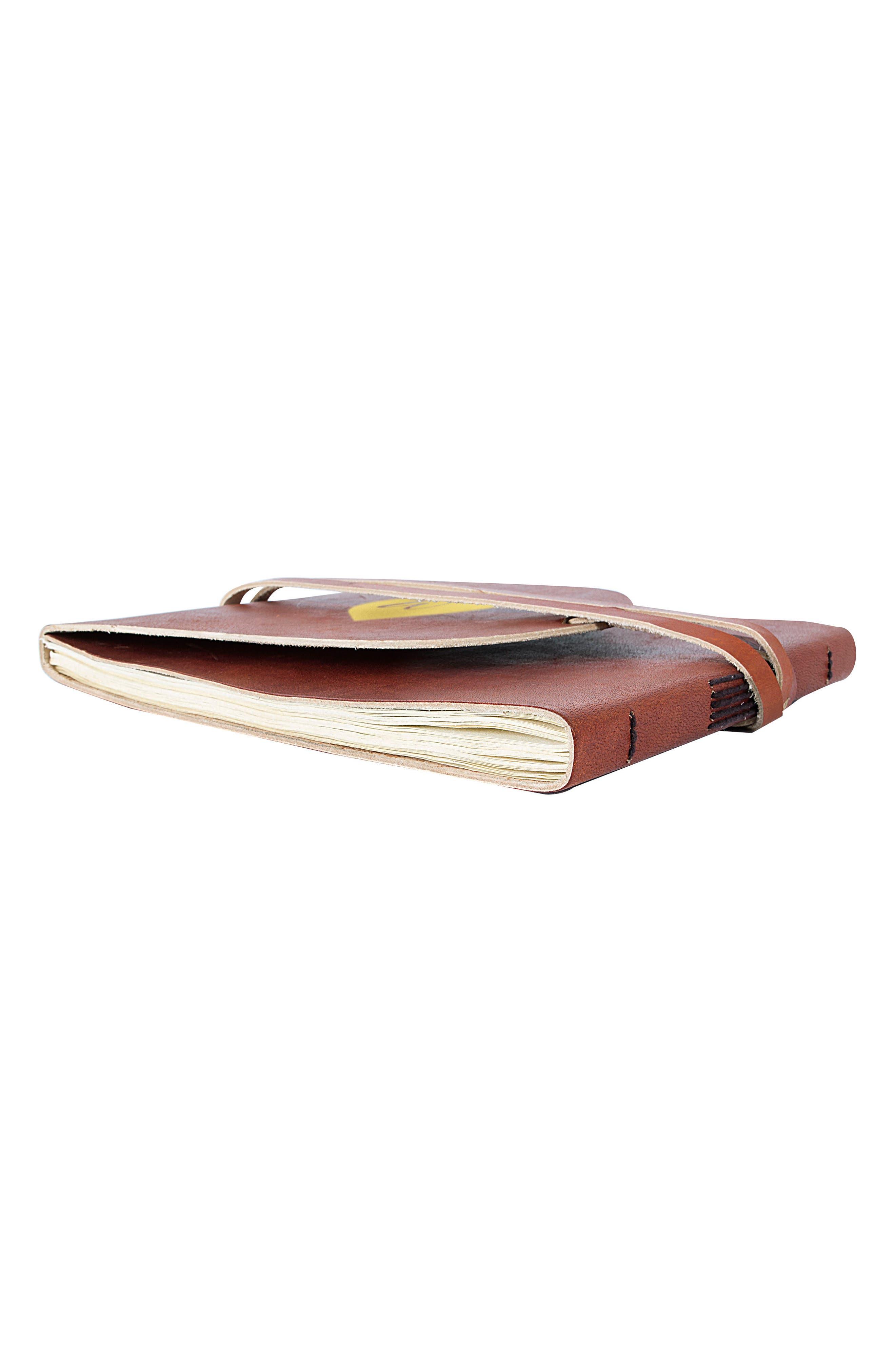 Monogram Leather Guest Book,                             Alternate thumbnail 5, color,                             710