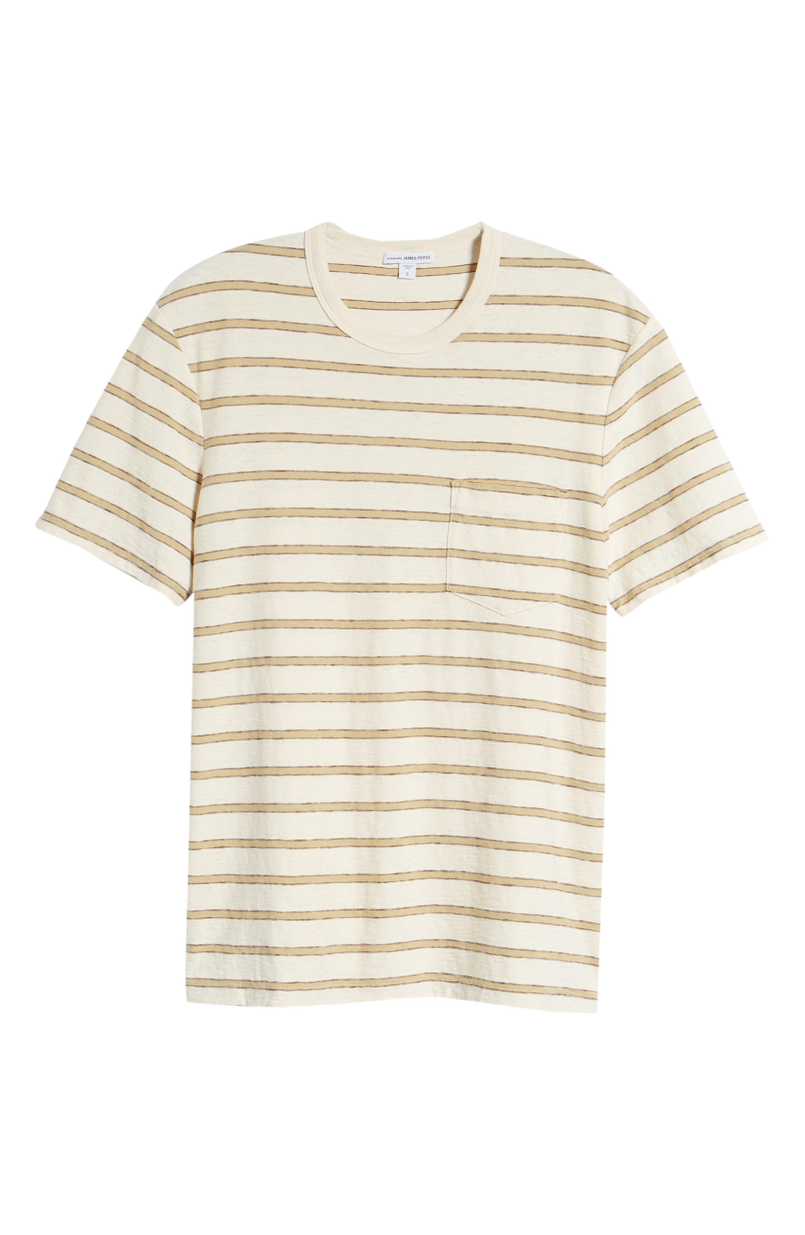 Vintage Stripe Pocket T-Shirt,                             Alternate thumbnail 6, color,                             COTTON STRIPE
