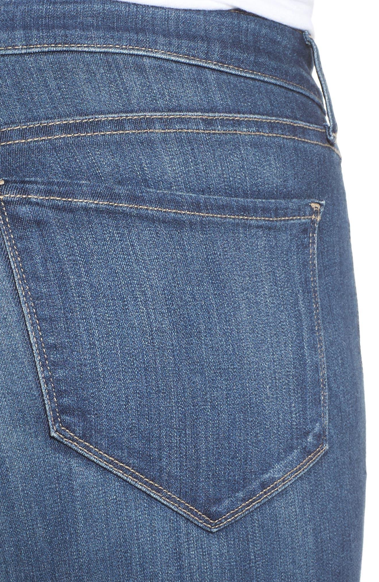Ami Release Hem Stretch Skinny Jeans,                             Alternate thumbnail 4, color,                             428
