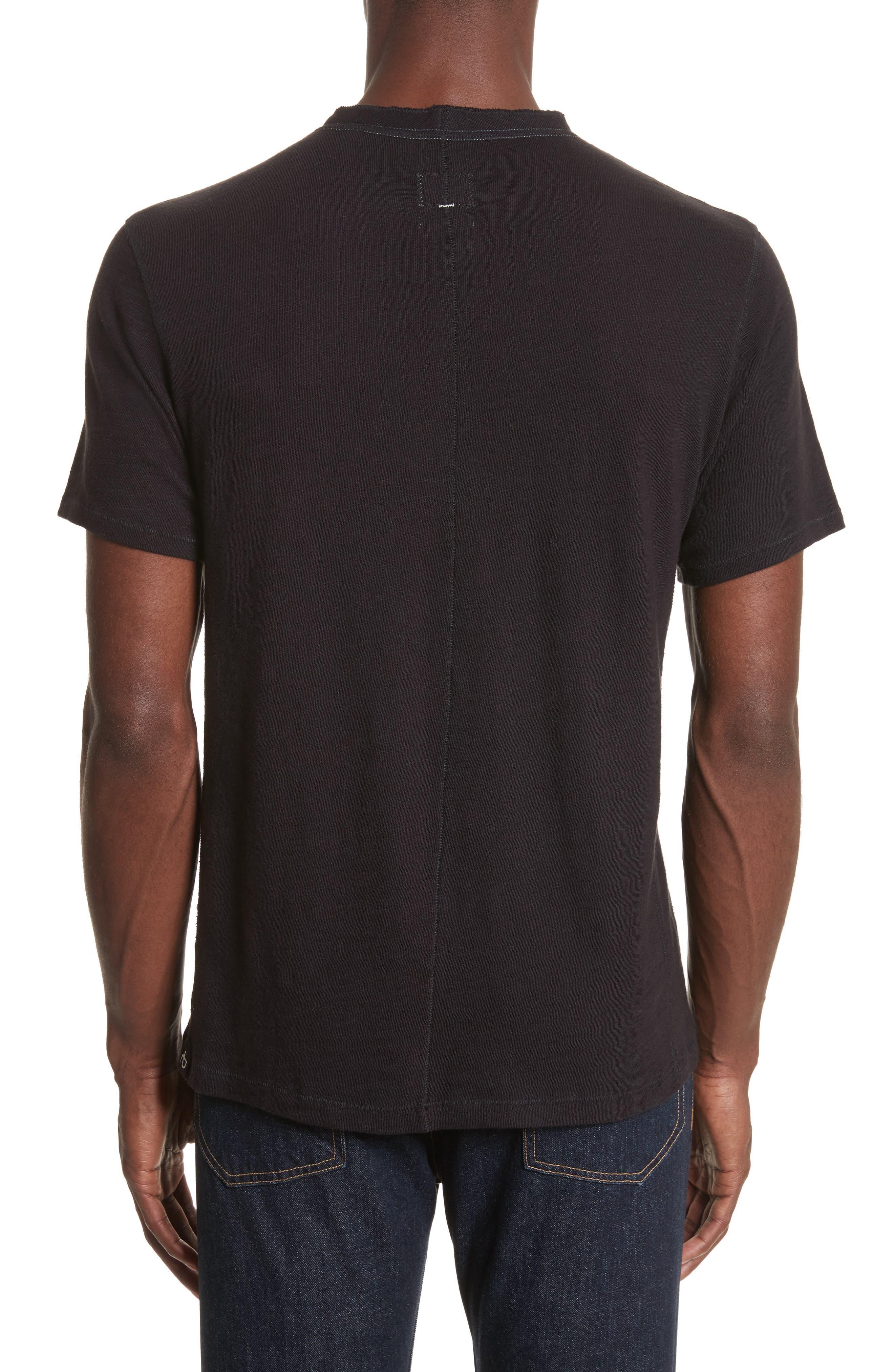 Standard Issue Henley T-Shirt,                             Alternate thumbnail 2, color,                             BLACK