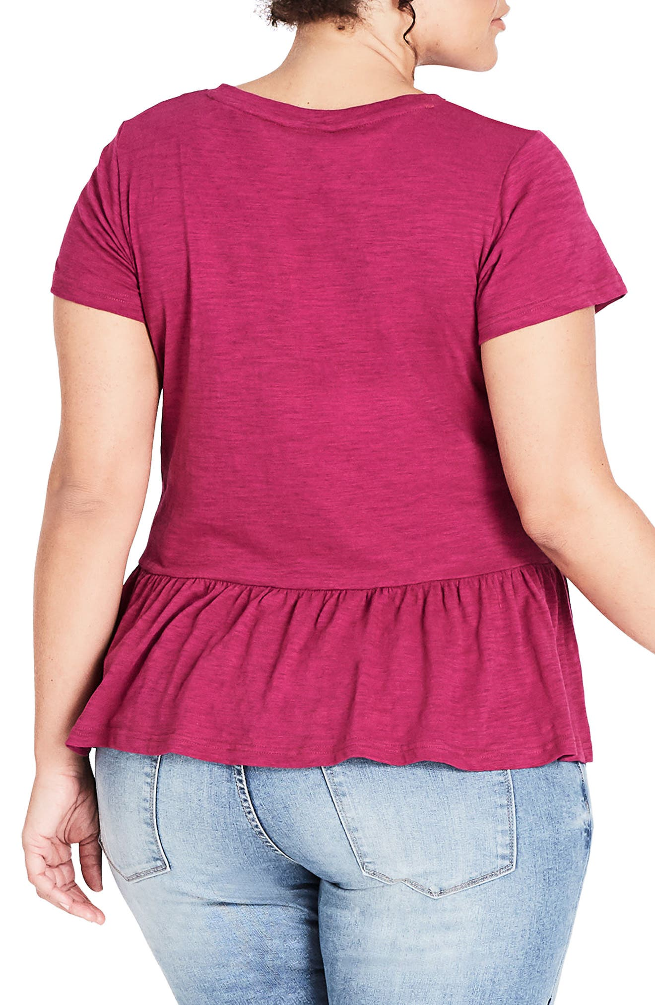 Spring Frill Cotton Top,                             Alternate thumbnail 4, color,