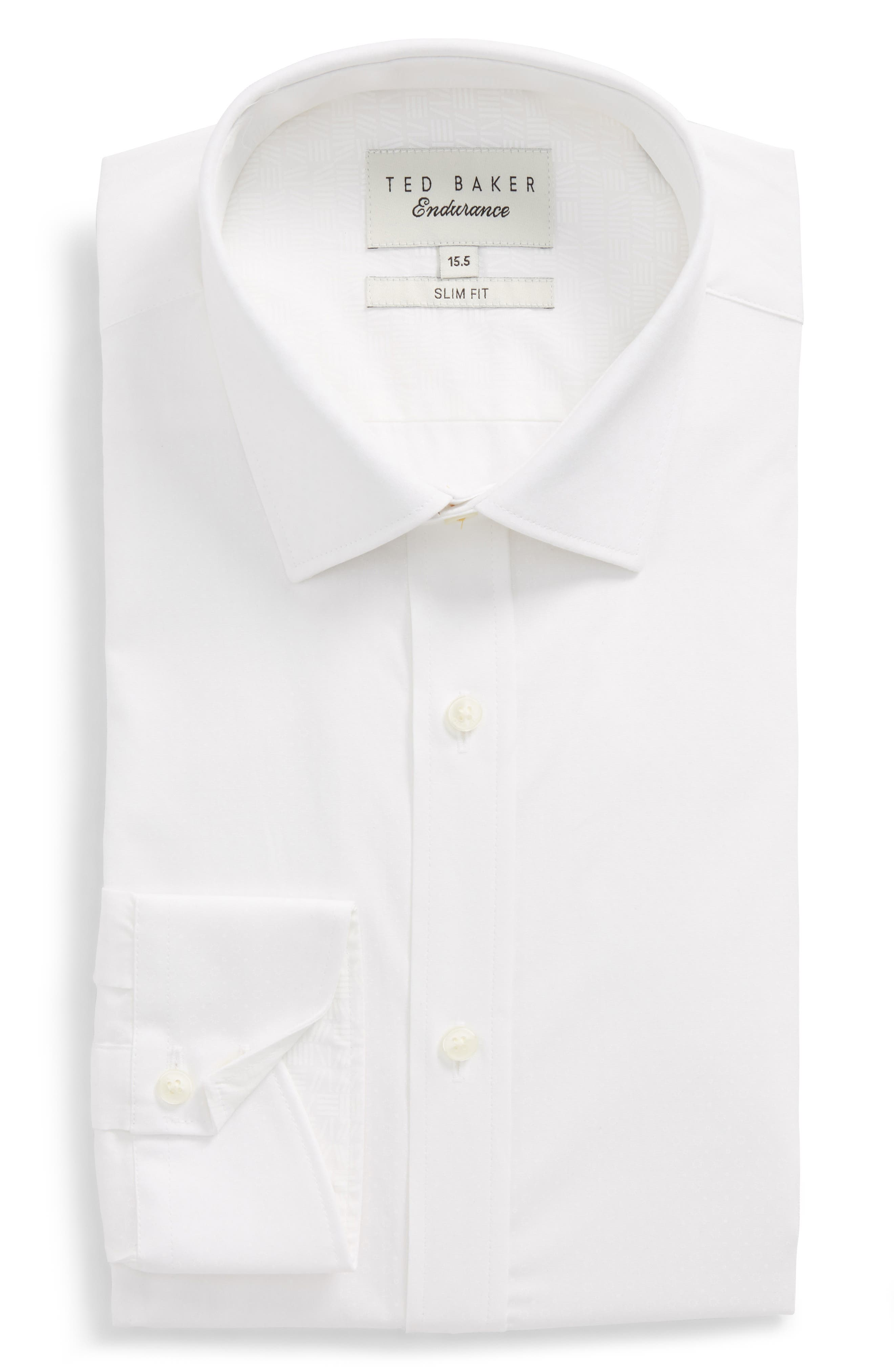 Loops Slim Fit Dress Shirt,                             Alternate thumbnail 5, color,                             110