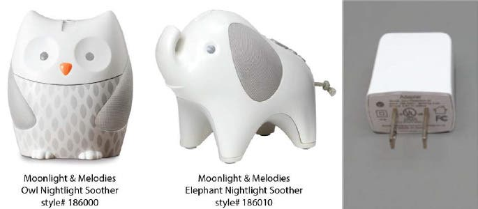 Skip Hop Moonlight and Melodies Nightlight Soothers.