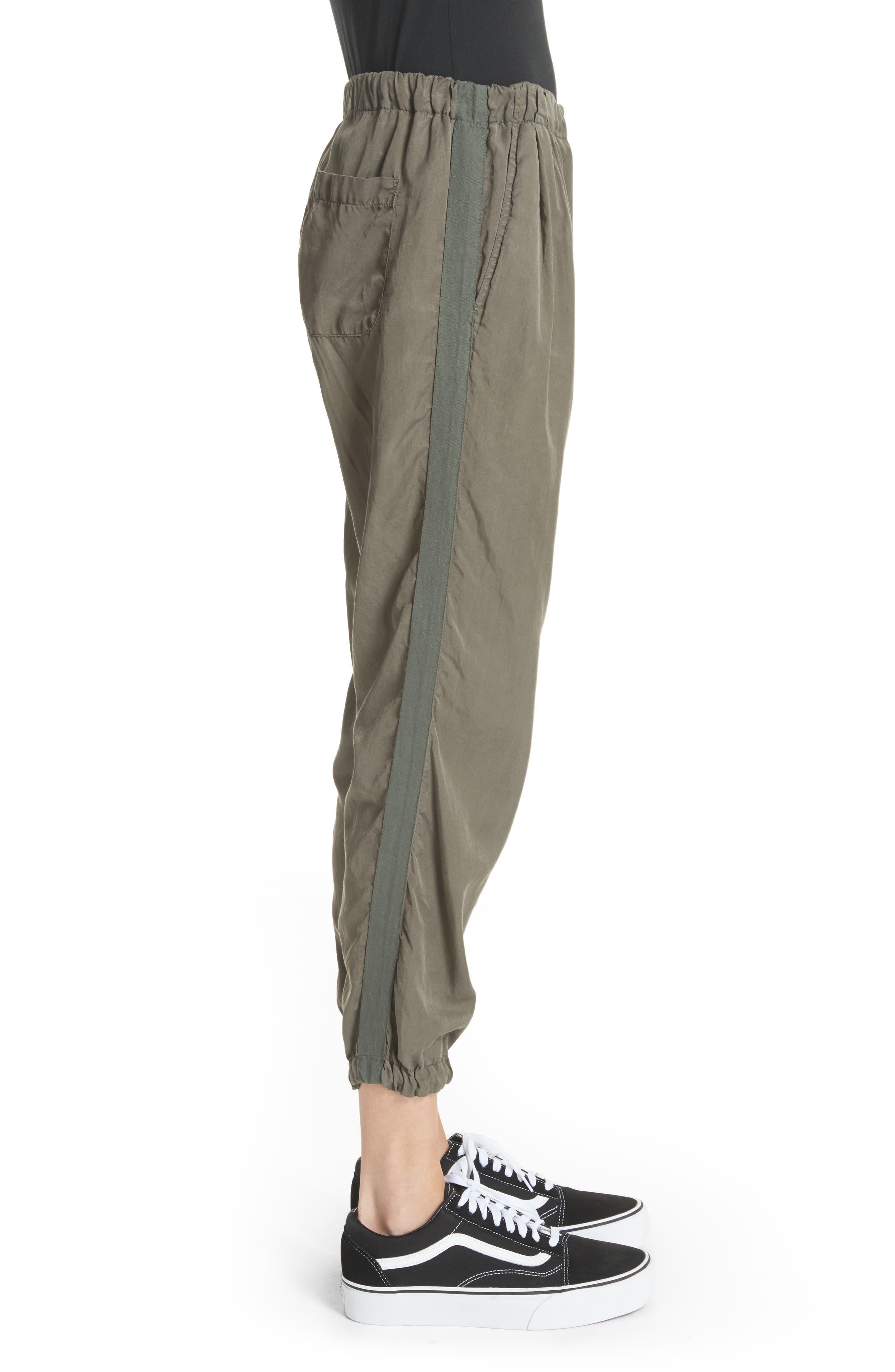 Silk Blend Track Pants,                             Alternate thumbnail 3, color,                             346