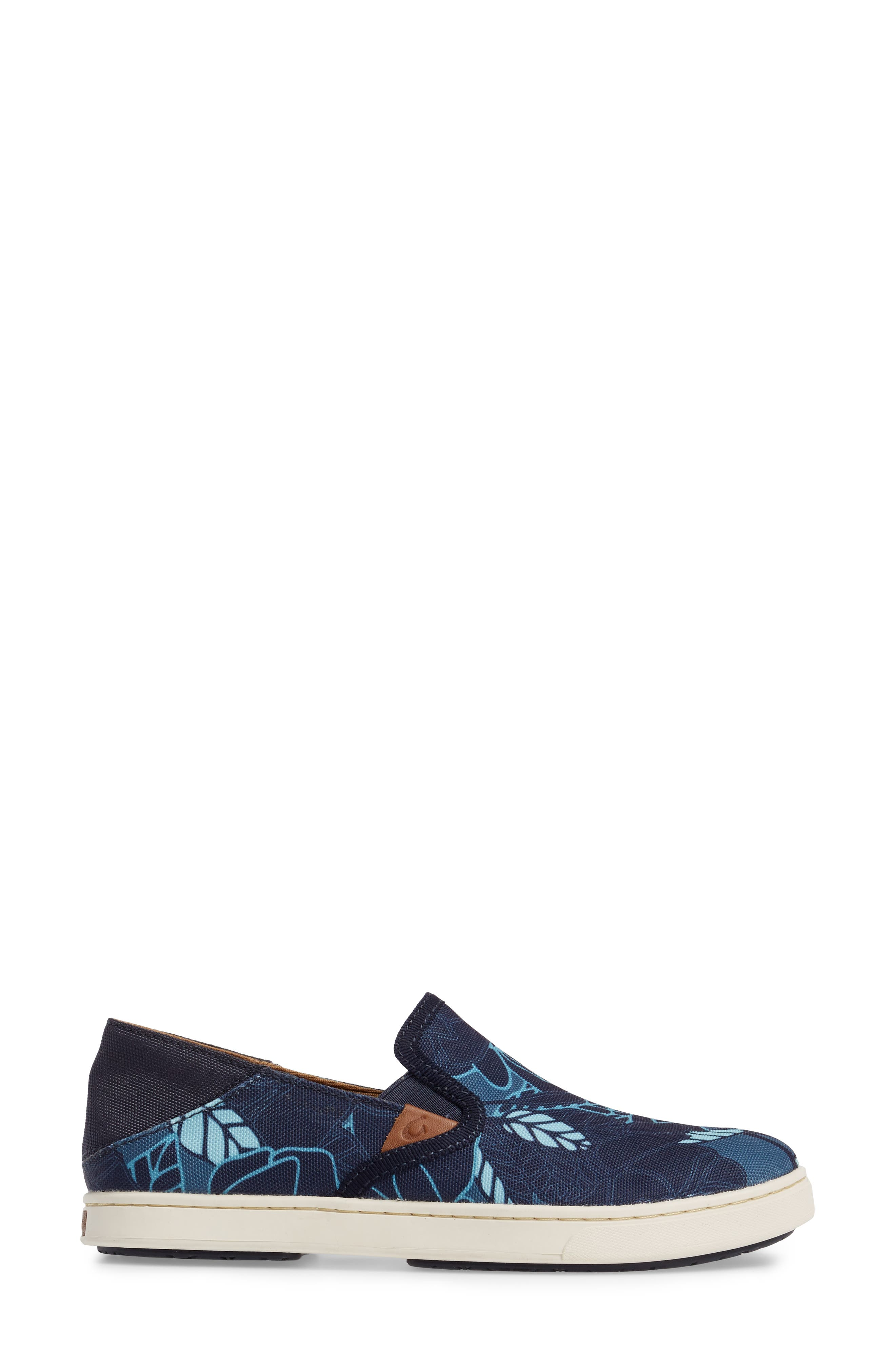Pehuea Print Slip-On Sneaker,                             Alternate thumbnail 3, color,                             TRENCH BLUE/ STORMY BLUE