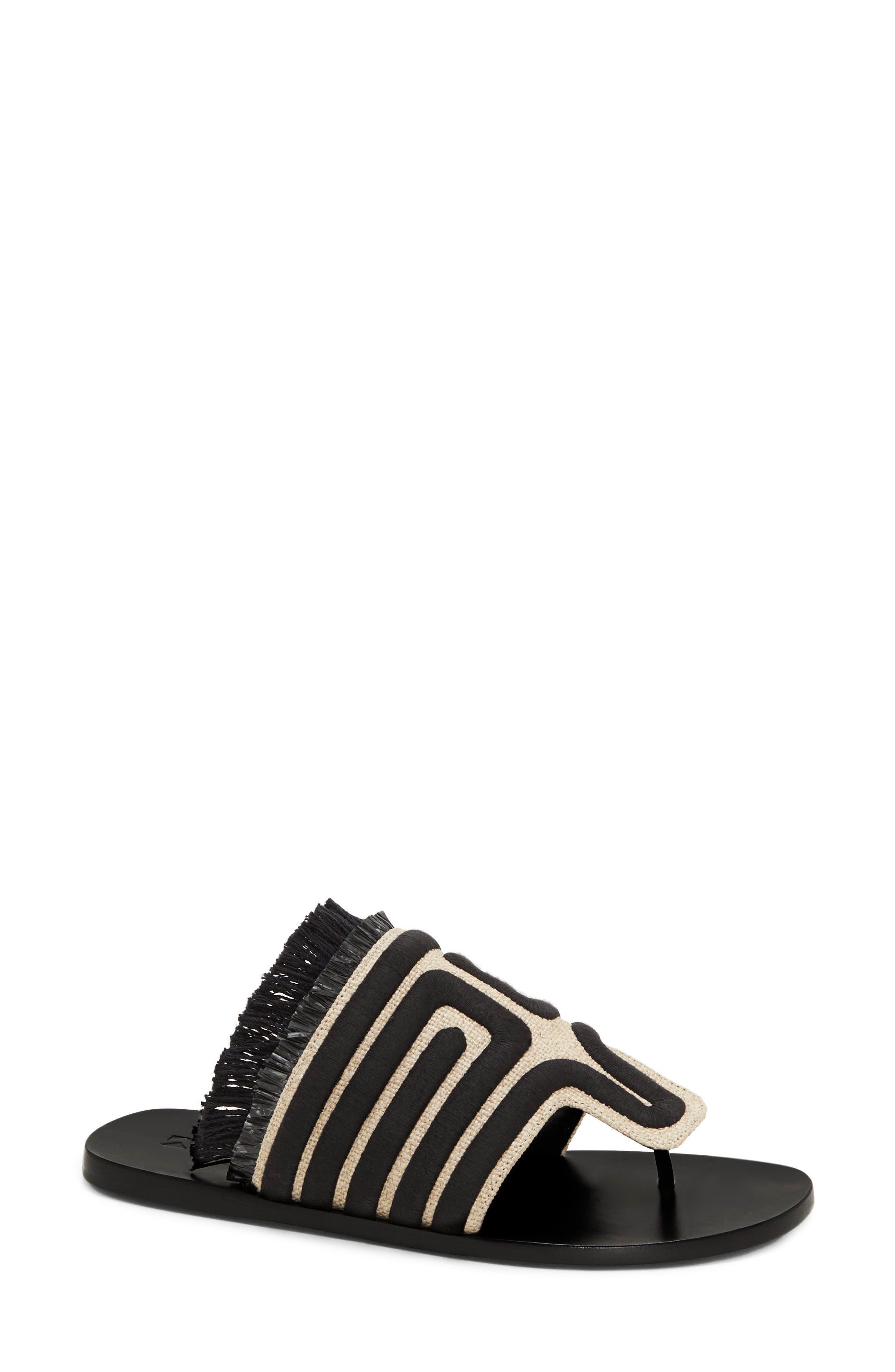 Lucara Embroidered Sandal,                             Main thumbnail 1, color,