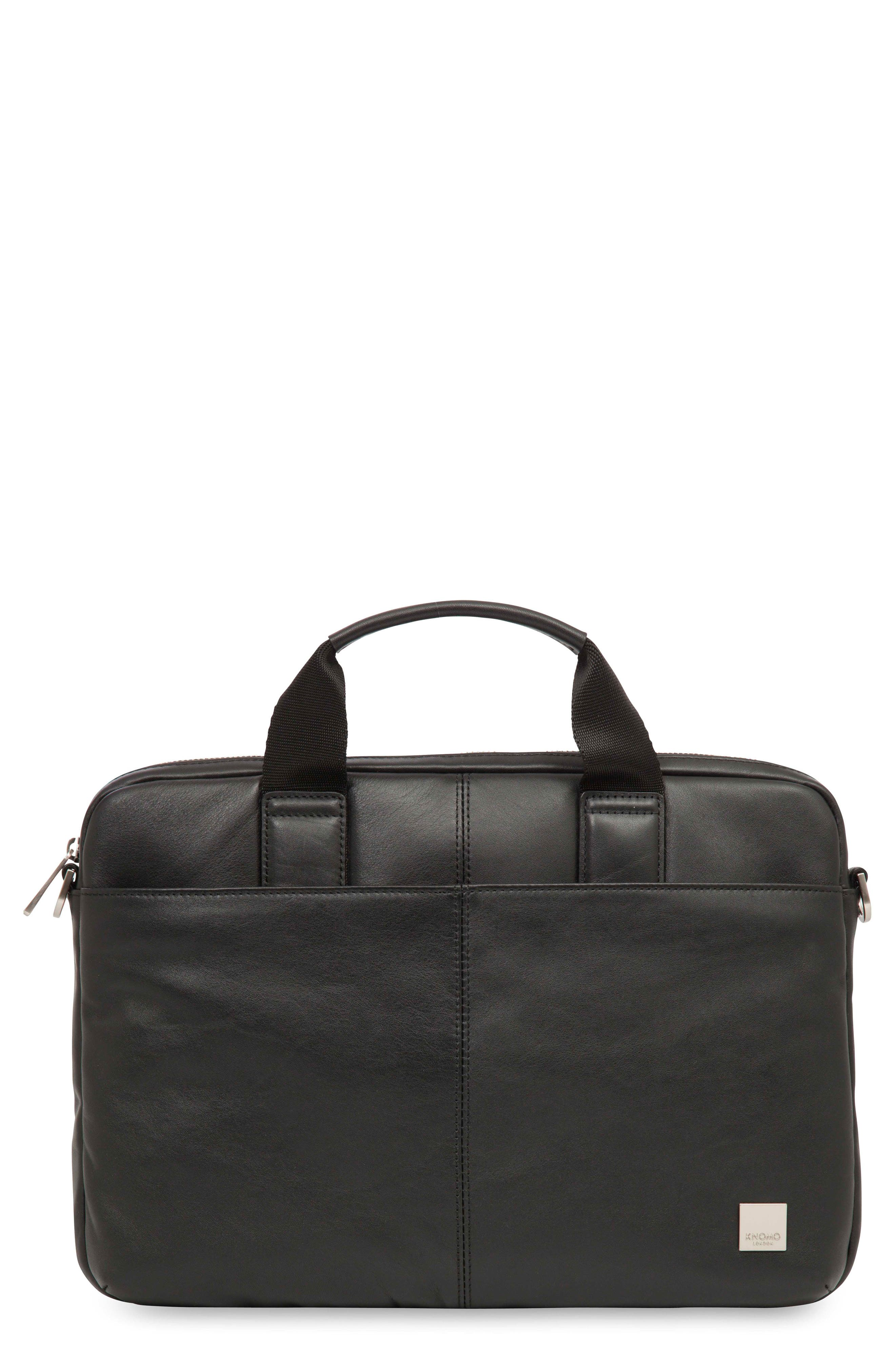 Brompton Stanford RFID Leather Briefcase,                         Main,                         color, 001