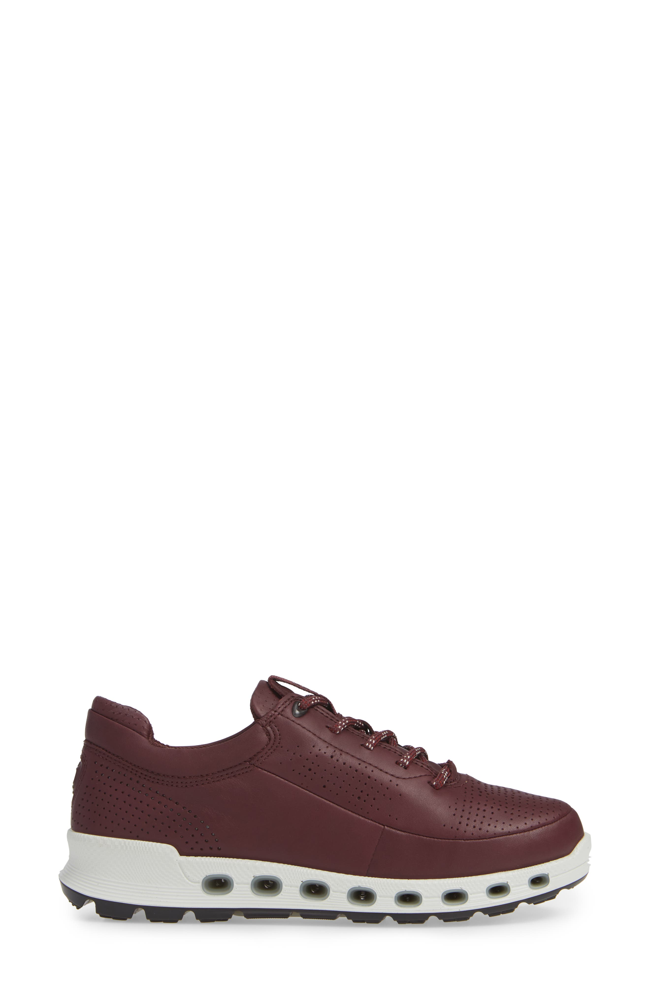 Cool 2.0 GTX Waterproof Sneaker,                             Alternate thumbnail 3, color,                             WINE LEATHER