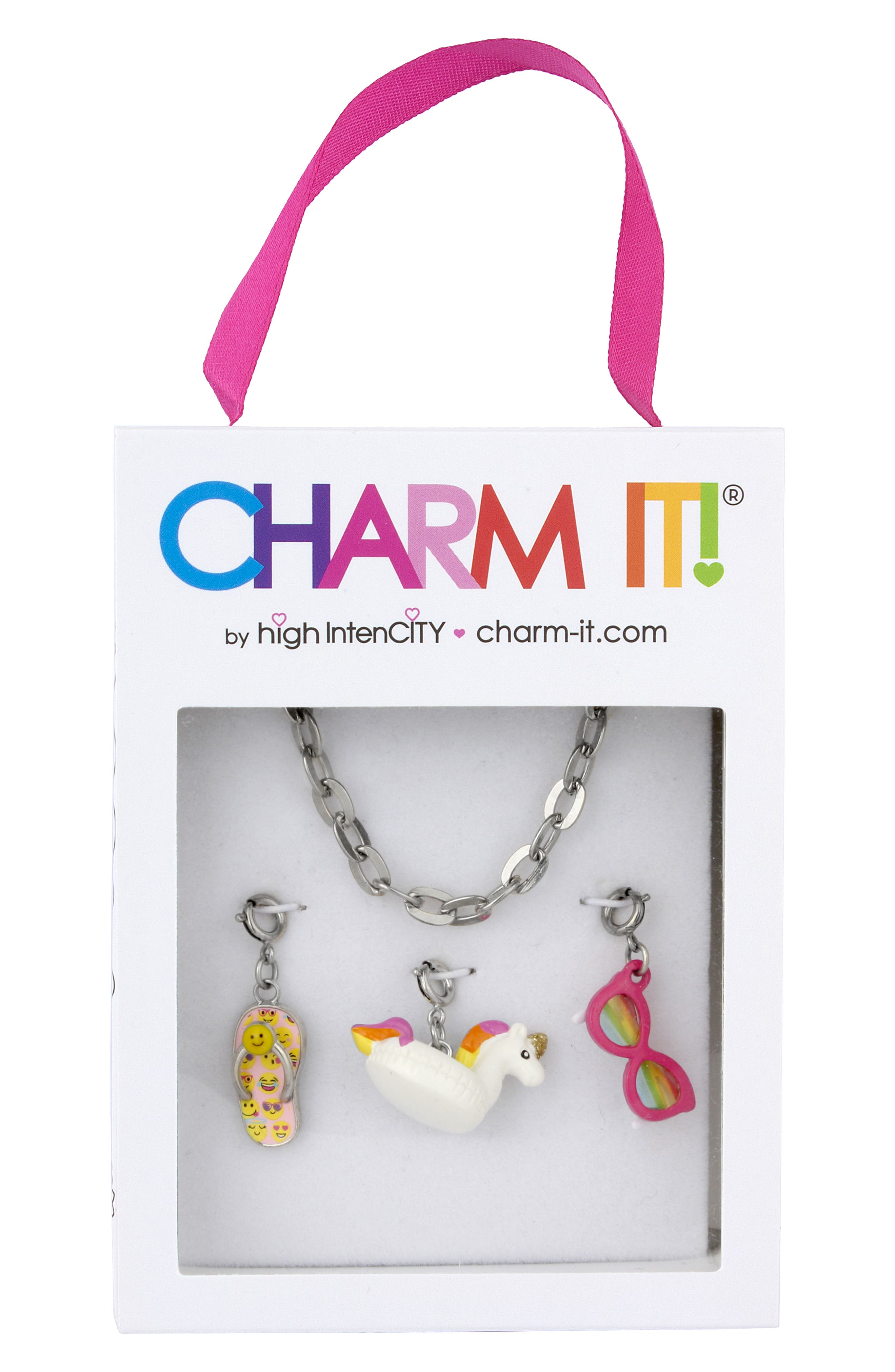 CHARM IT!<sup>®</sup> Fun In The Sun Charm Bracelet Gift Set,                             Alternate thumbnail 2, color,                             UNICORN FLOAT
