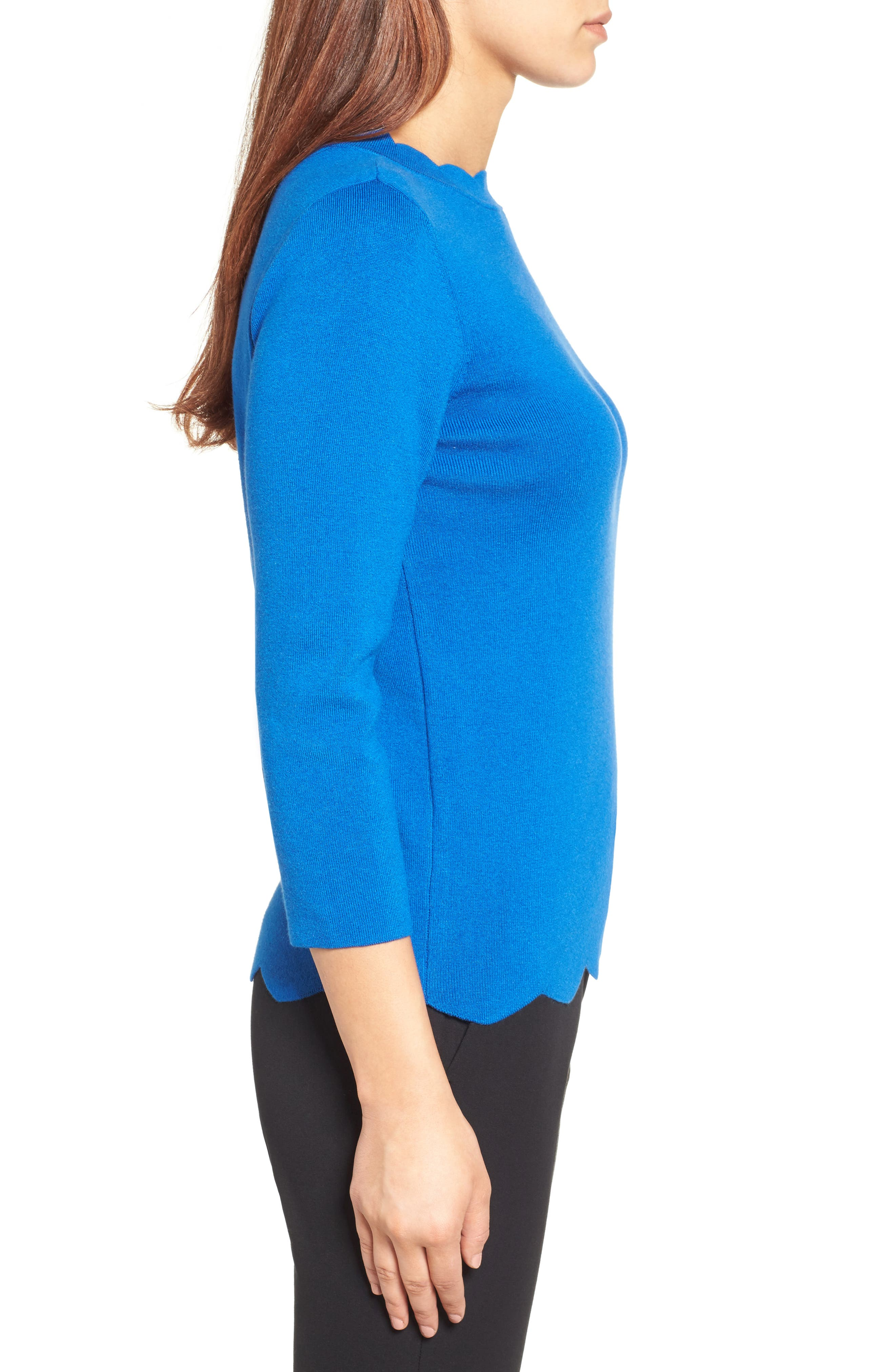 Halogen Scallop Edge Sweater,                             Alternate thumbnail 29, color,