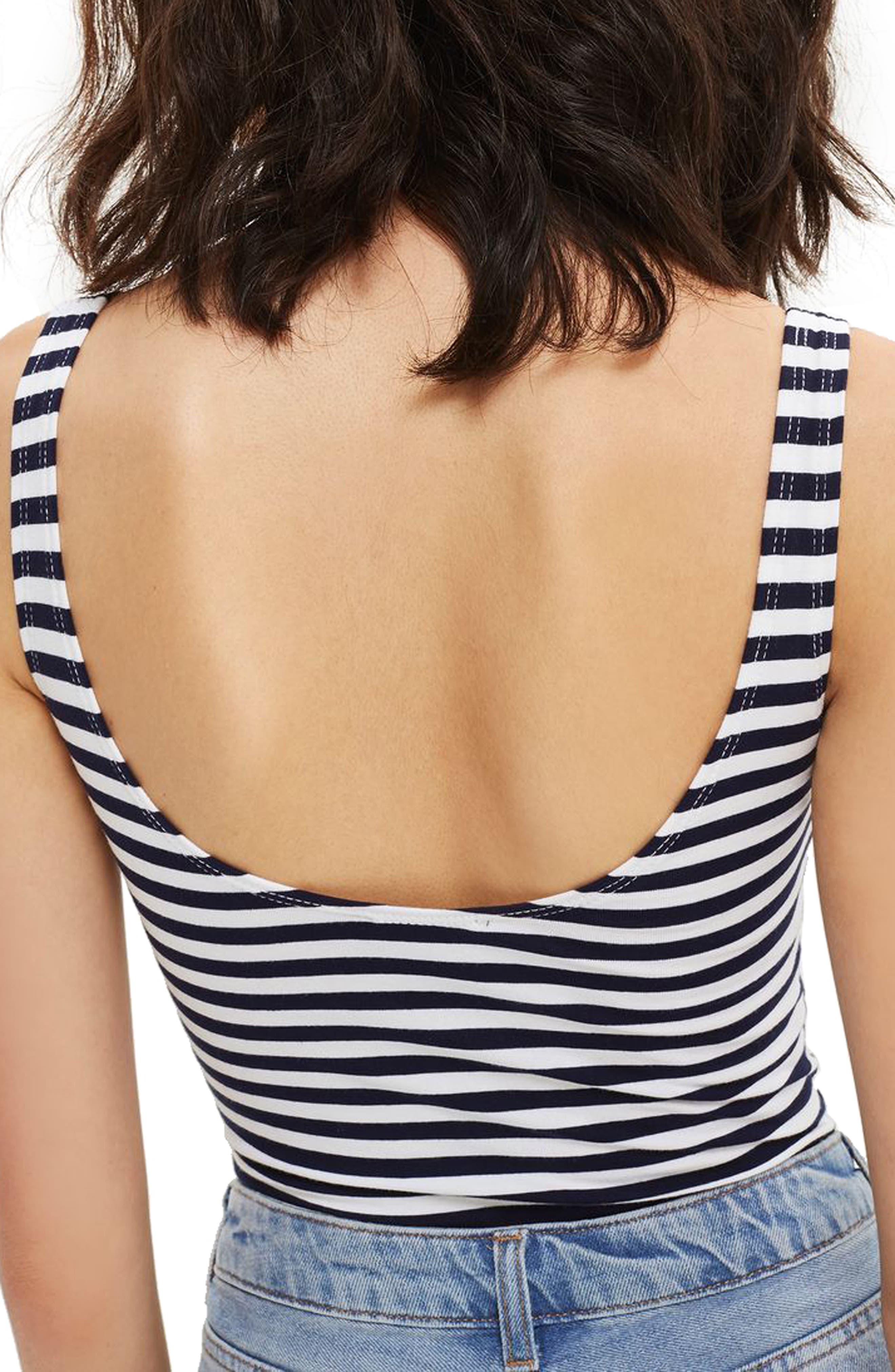 Stripe Amour Bodysuit,                             Alternate thumbnail 2, color,                             410