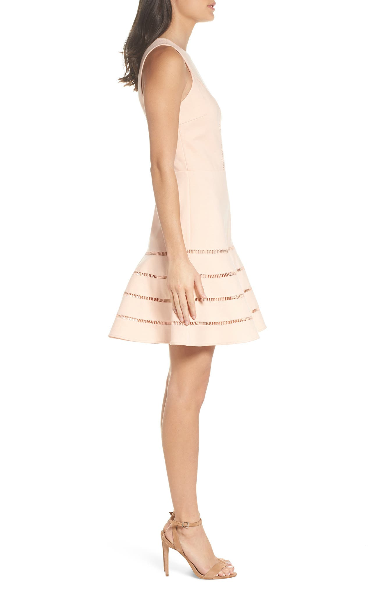Peggy Fit & Flare Dress,                             Alternate thumbnail 3, color,                             680