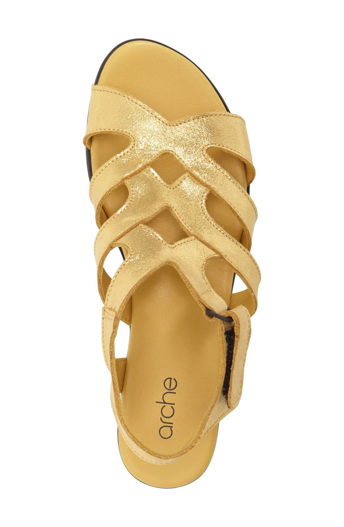 'Obela' Water Resistant Leather Sandal,                             Alternate thumbnail 18, color,