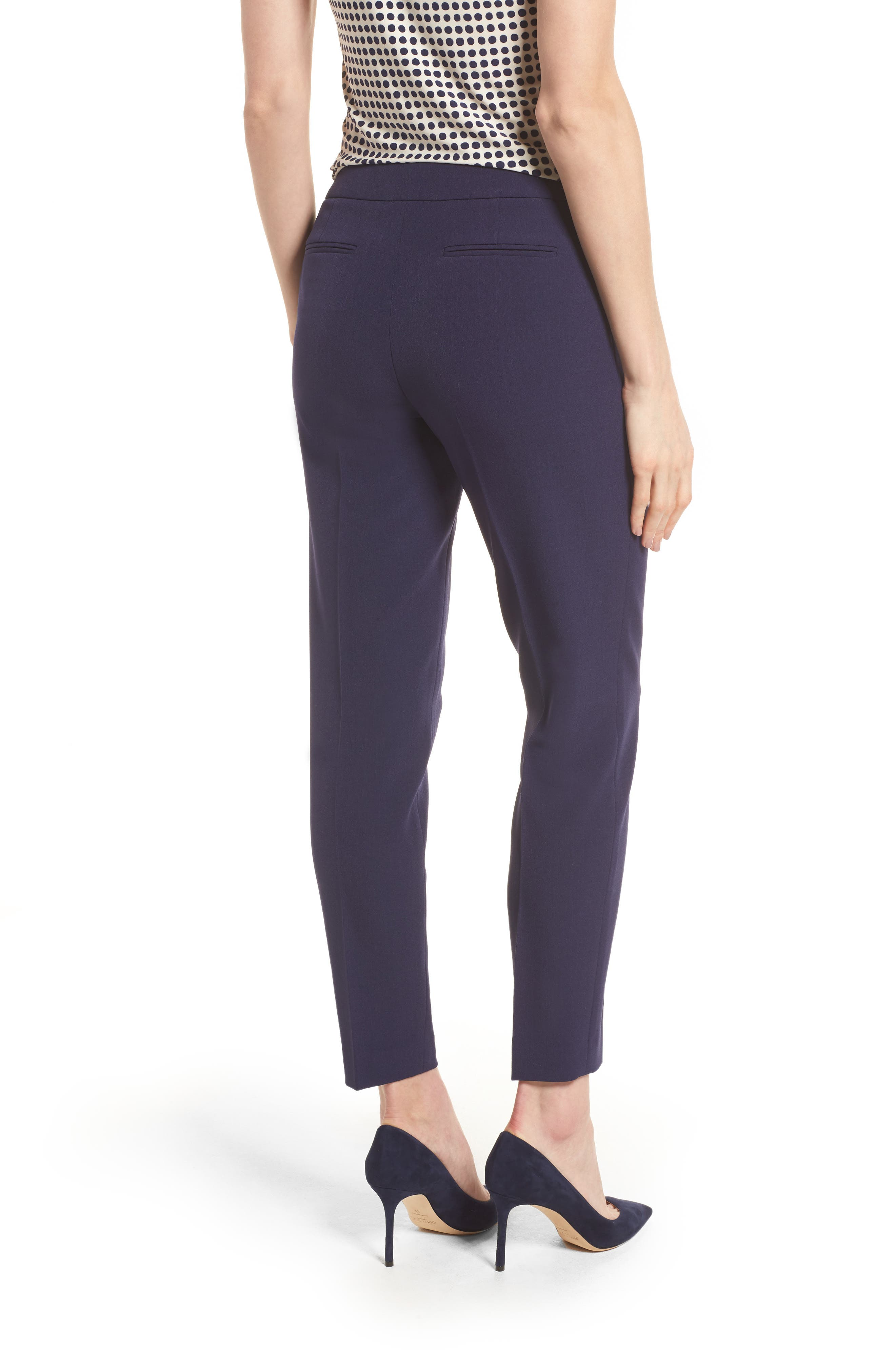 Crepe Slim Pants,                             Alternate thumbnail 2, color,