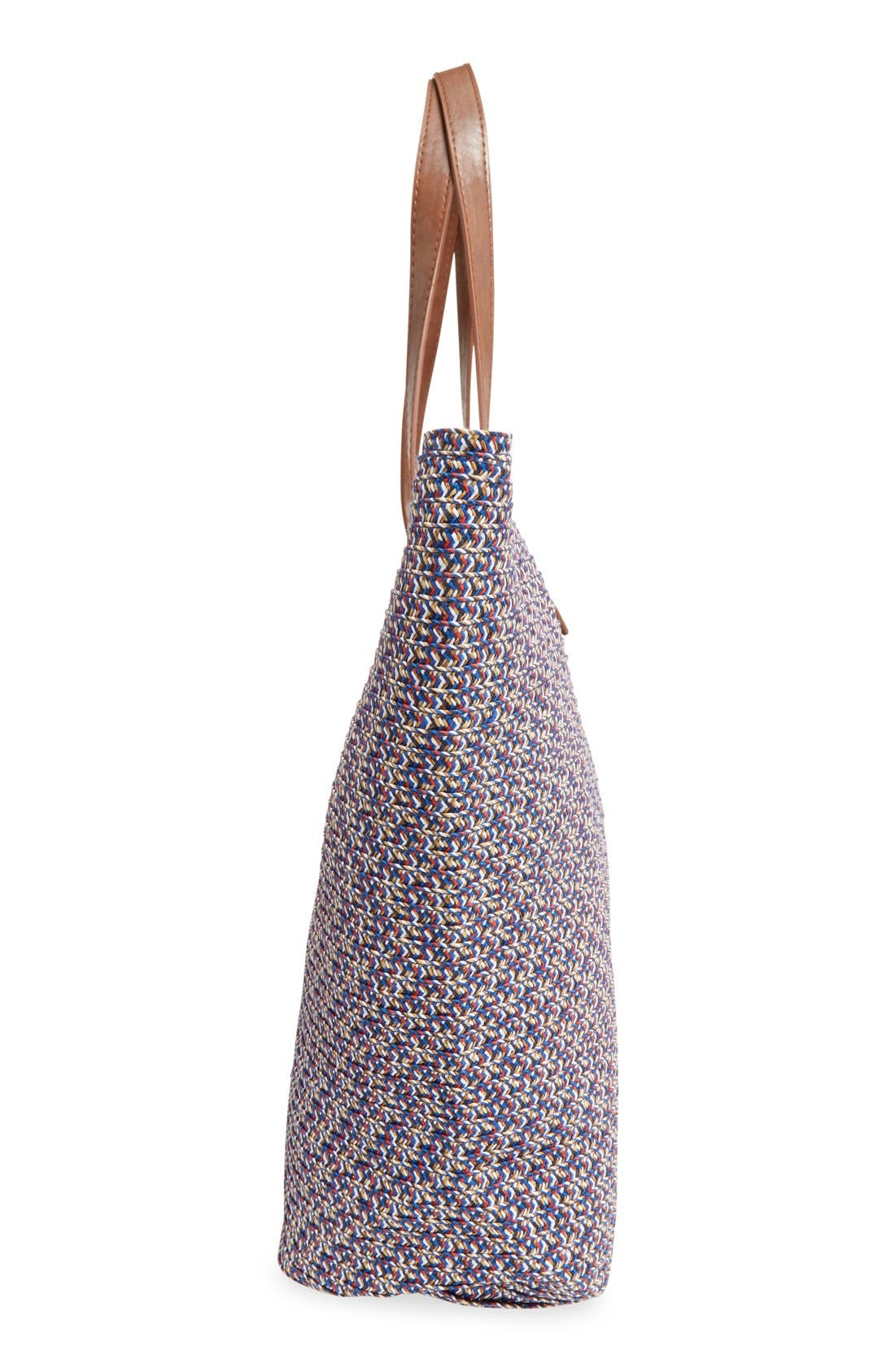 Woven Straw Tote,                             Alternate thumbnail 6, color,                             440