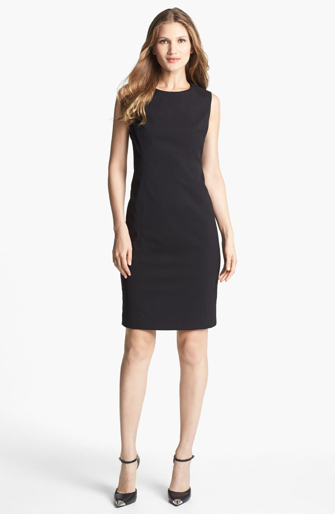 'Mallory' All Season Stretch Sheath Dress,                             Main thumbnail 1, color,                             001