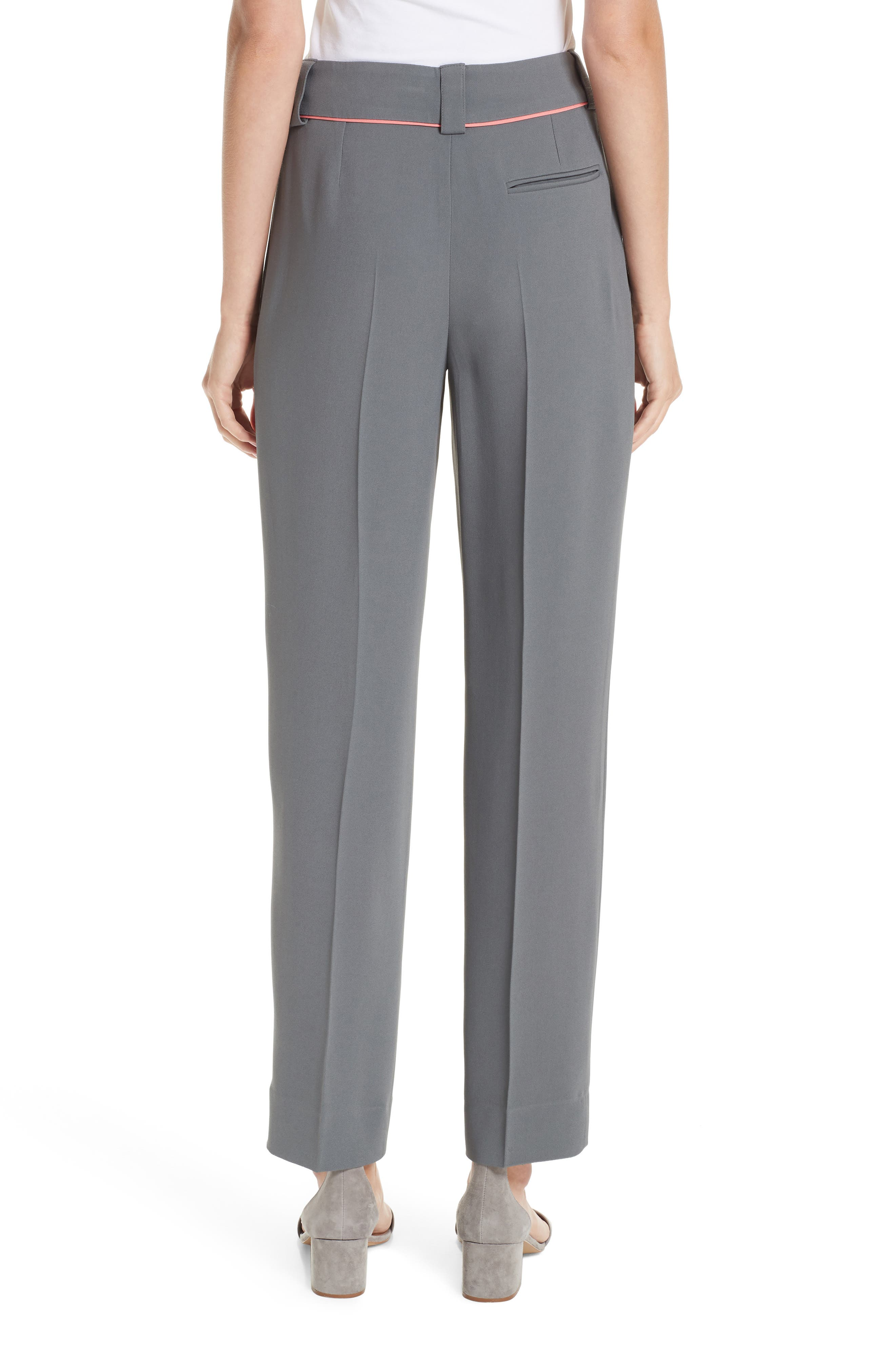 Piped Ankle Pants,                             Alternate thumbnail 2, color,                             ROCCIA