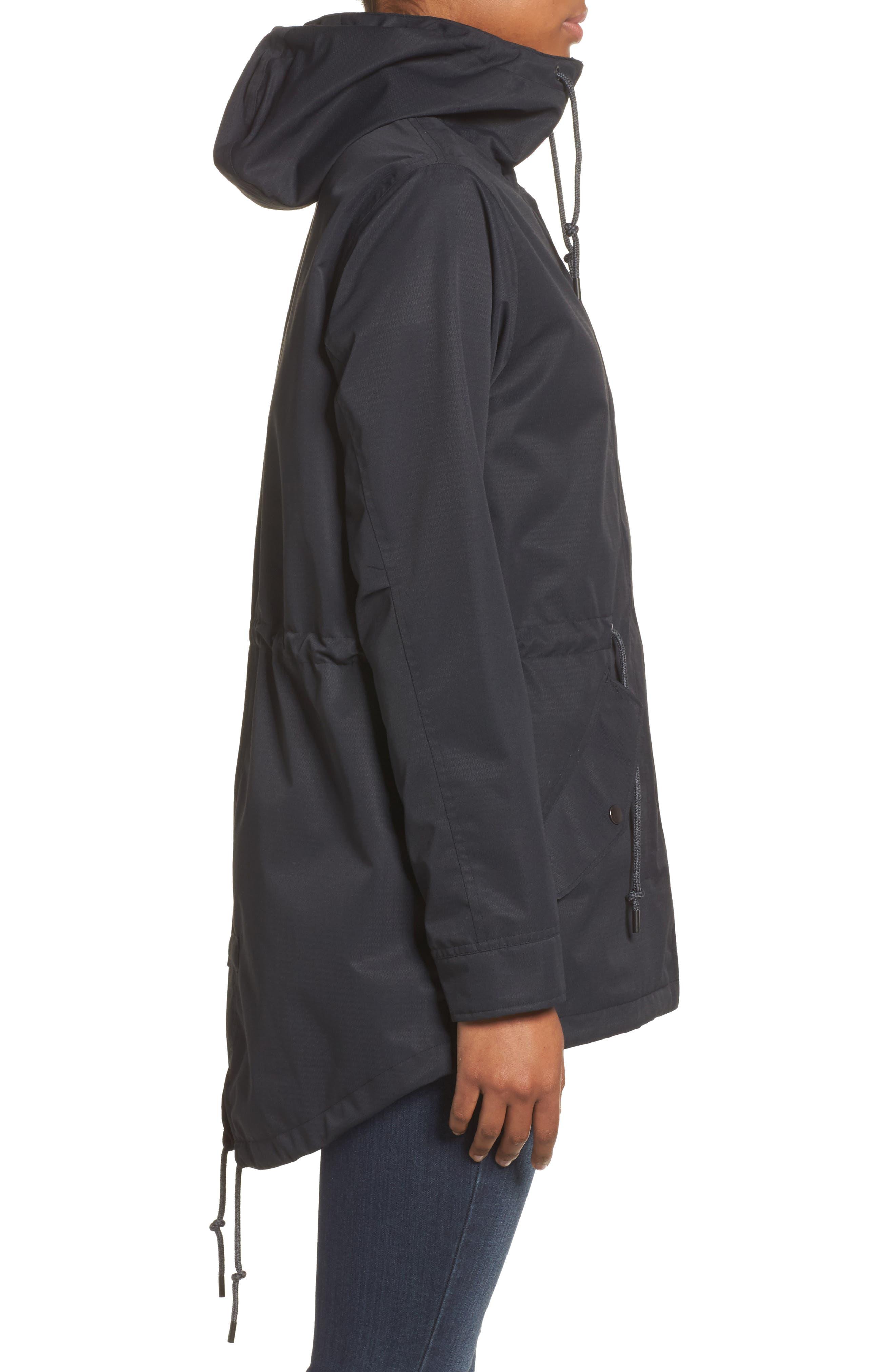 Sadie Waterproof Hooded Jacket,                             Alternate thumbnail 3, color,                             001