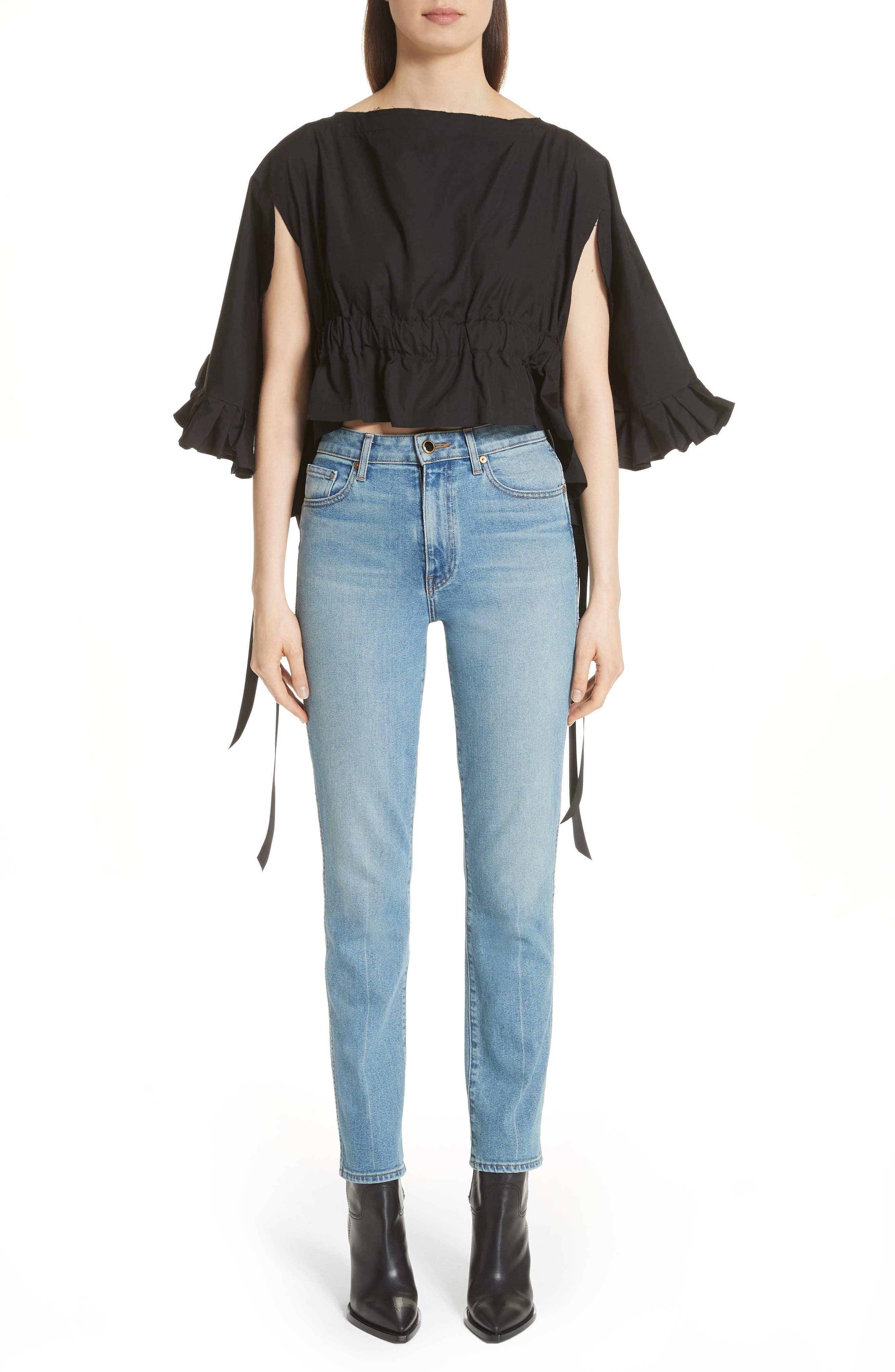 Crop Ruffle Top,                             Alternate thumbnail 13, color,