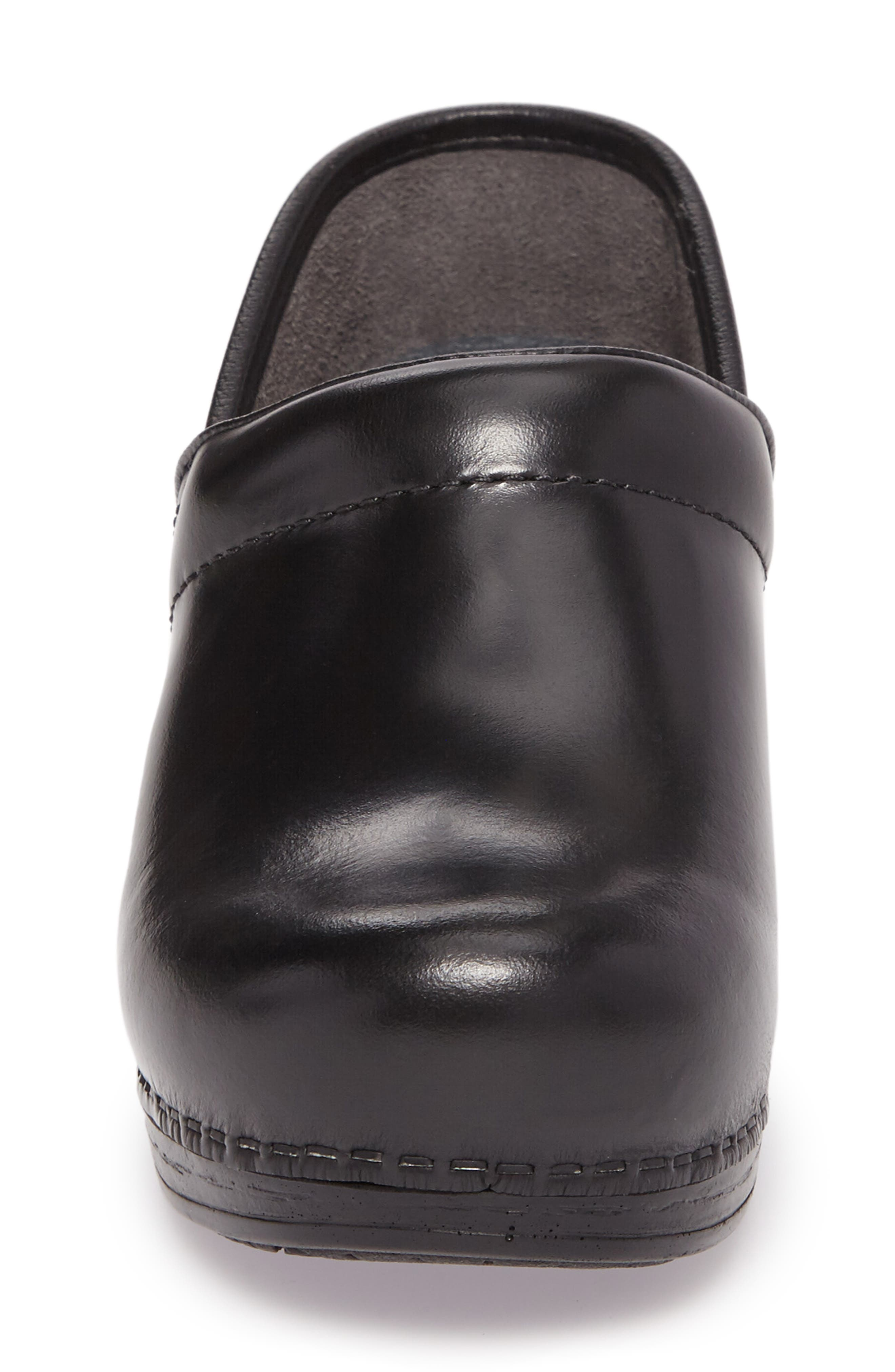 Wide Pro XP Clog,                             Alternate thumbnail 4, color,                             BLACK CABRIO LEATHER