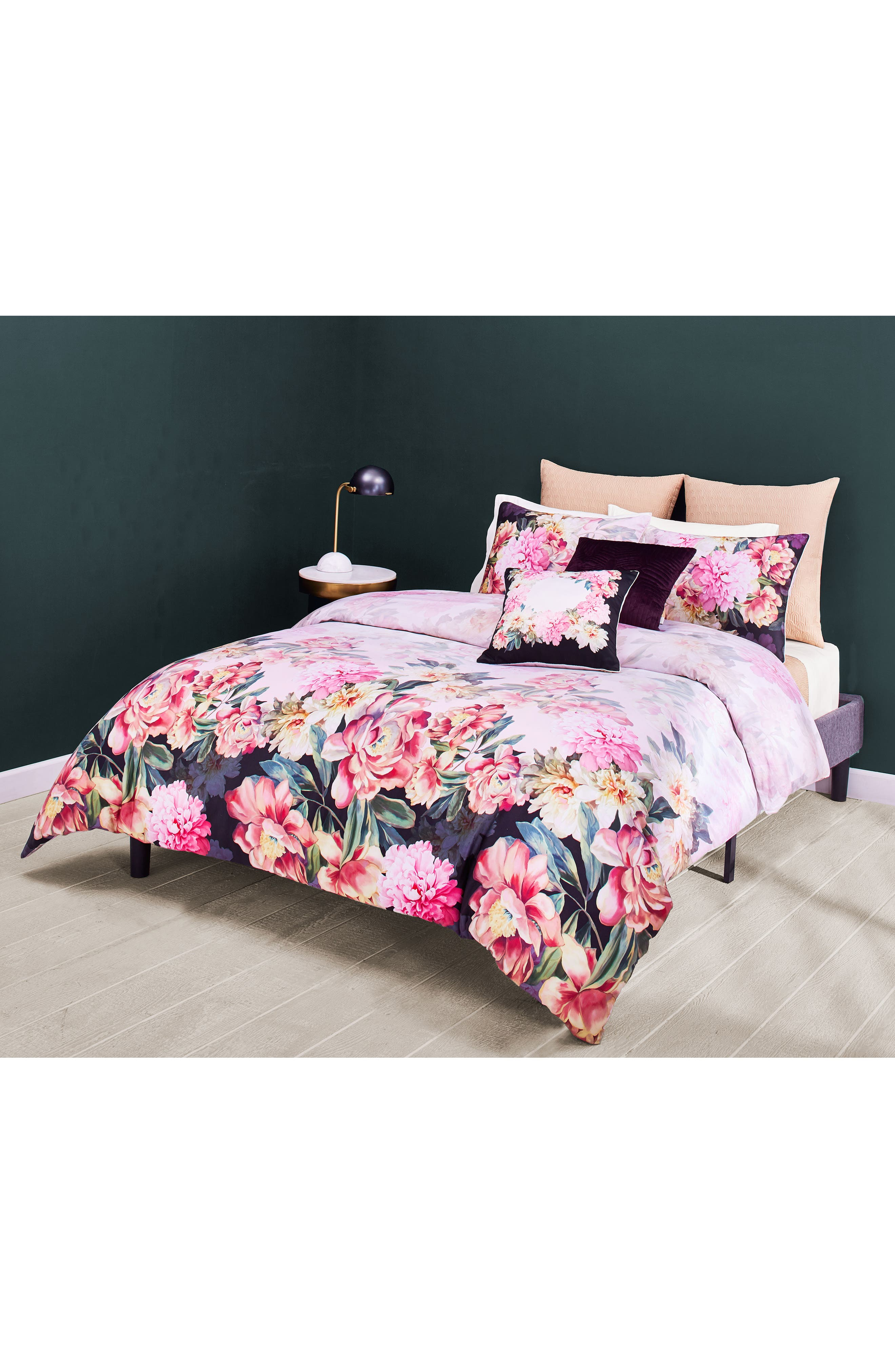Painted Posie Duvet Cover & Sham Set,                             Alternate thumbnail 2, color,                             650