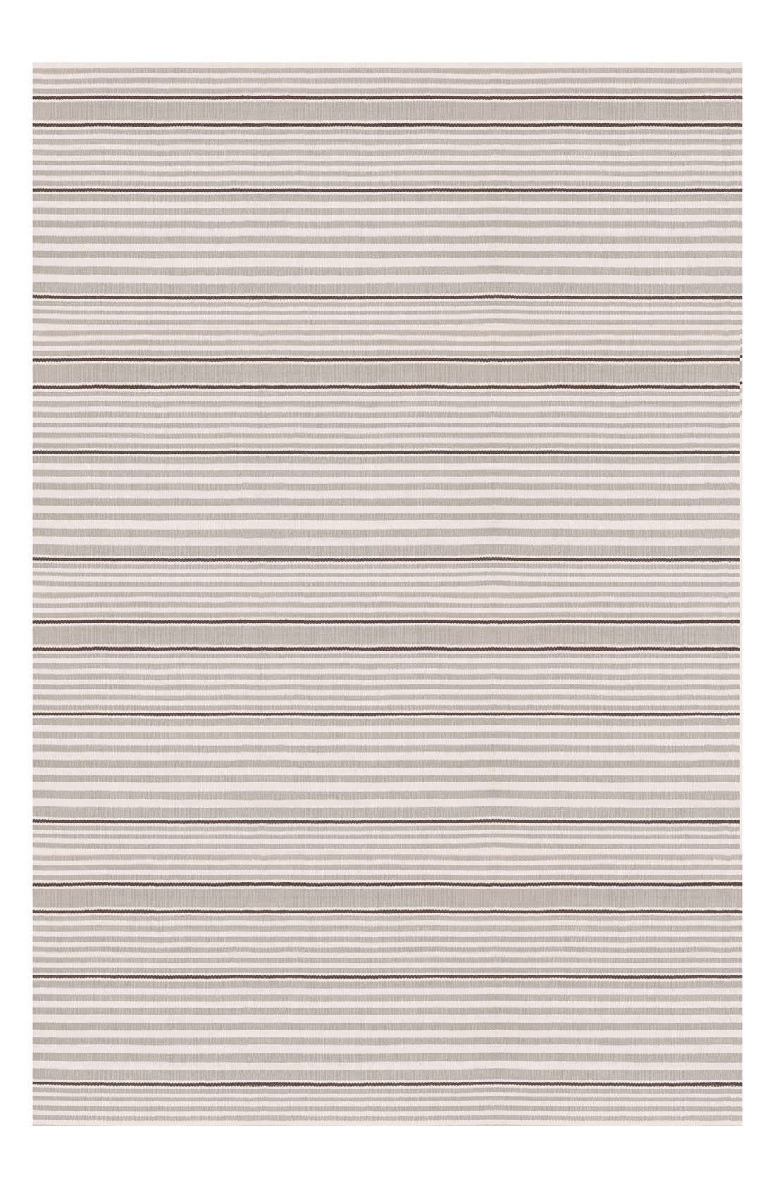 'Rugby Stripe' Indoor/Outdoor Rug,                             Alternate thumbnail 2, color,                             PLATINUM