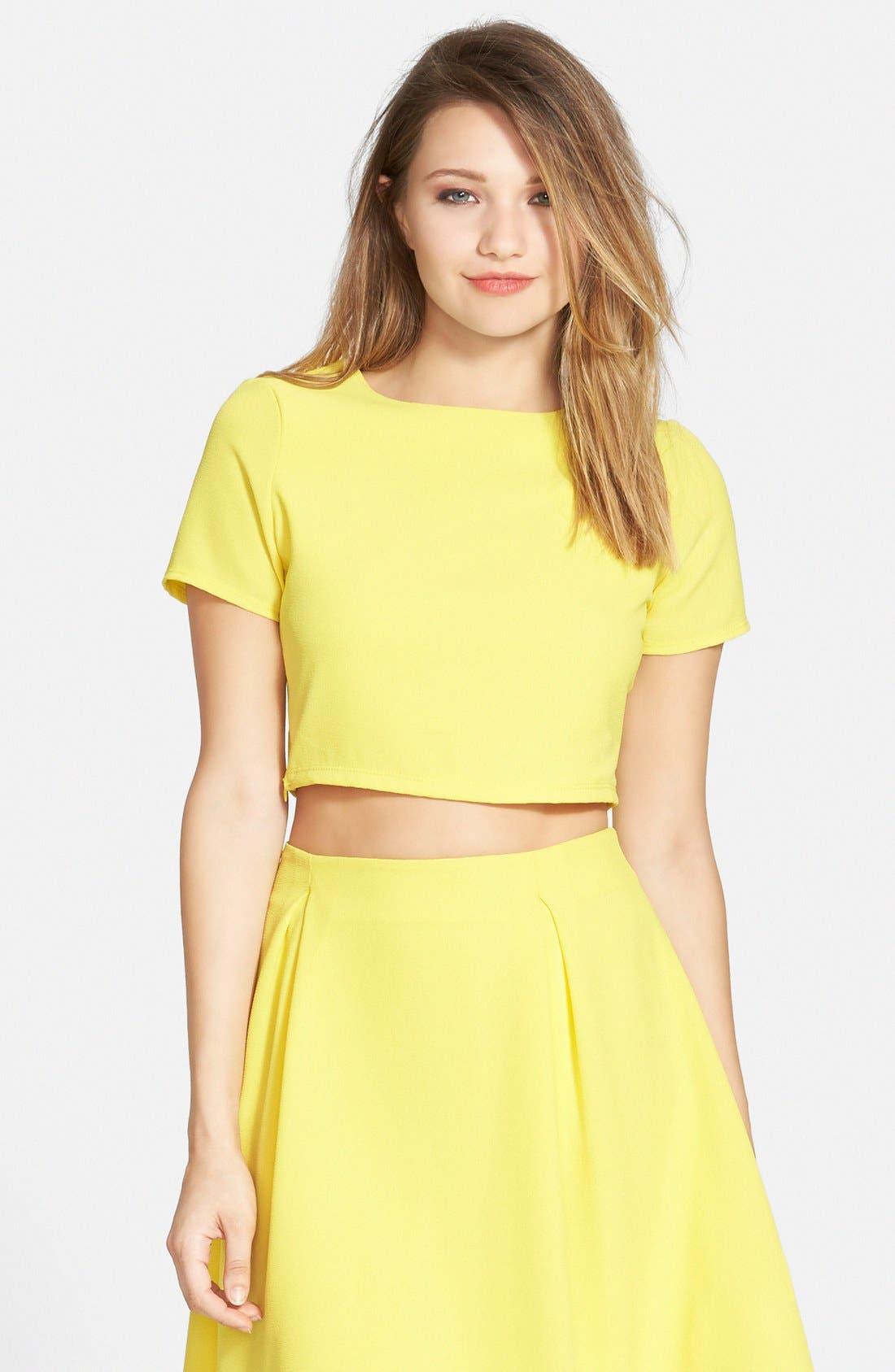 Short Sleeve Crop Top,                         Main,                         color, 700