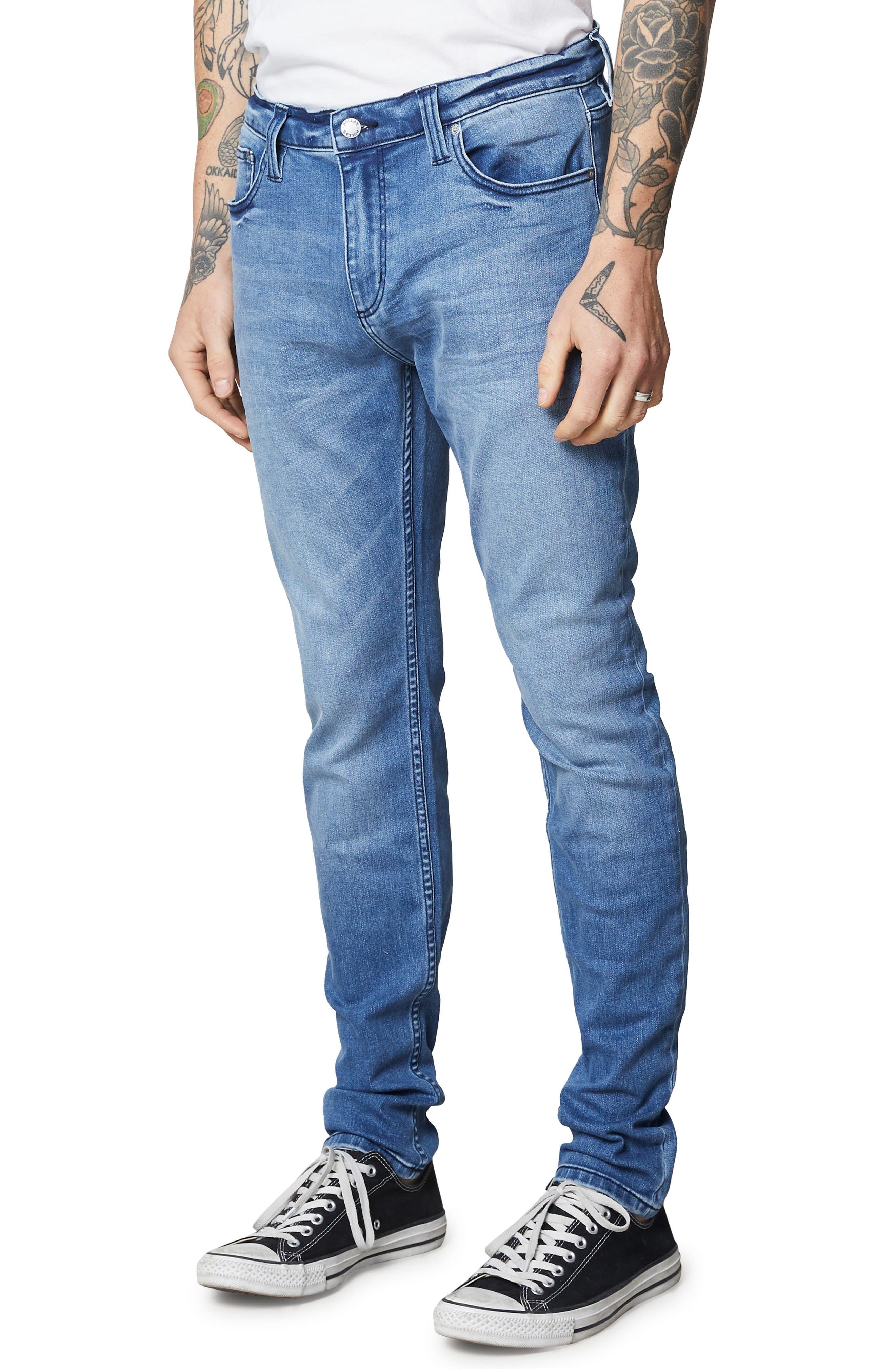 Stinger Skinny Fit Jeans,                             Alternate thumbnail 3, color,                             TRUE BLUE