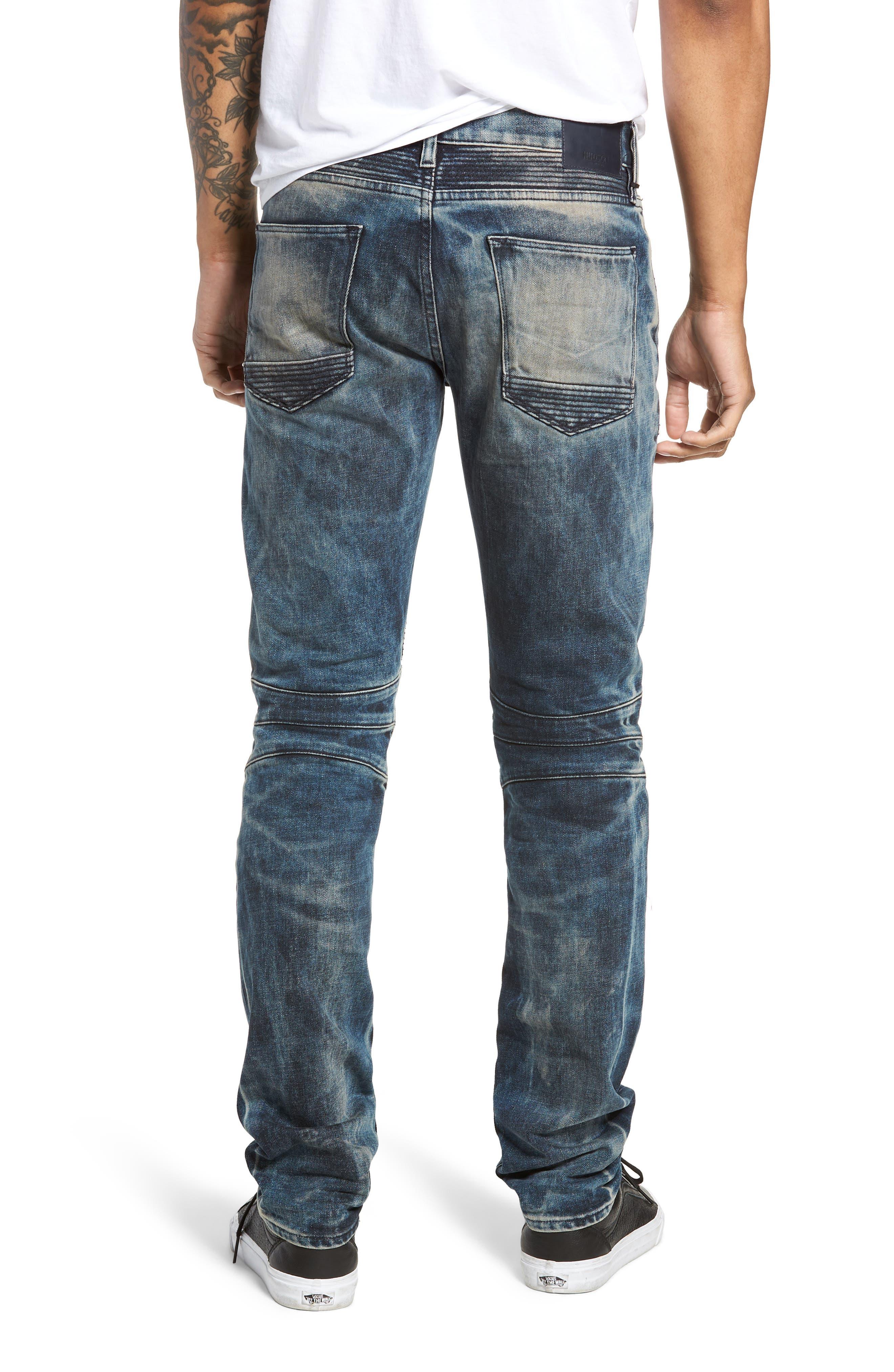 Blinder Biker Skinny Fit Jeans,                             Alternate thumbnail 2, color,                             MARTINO