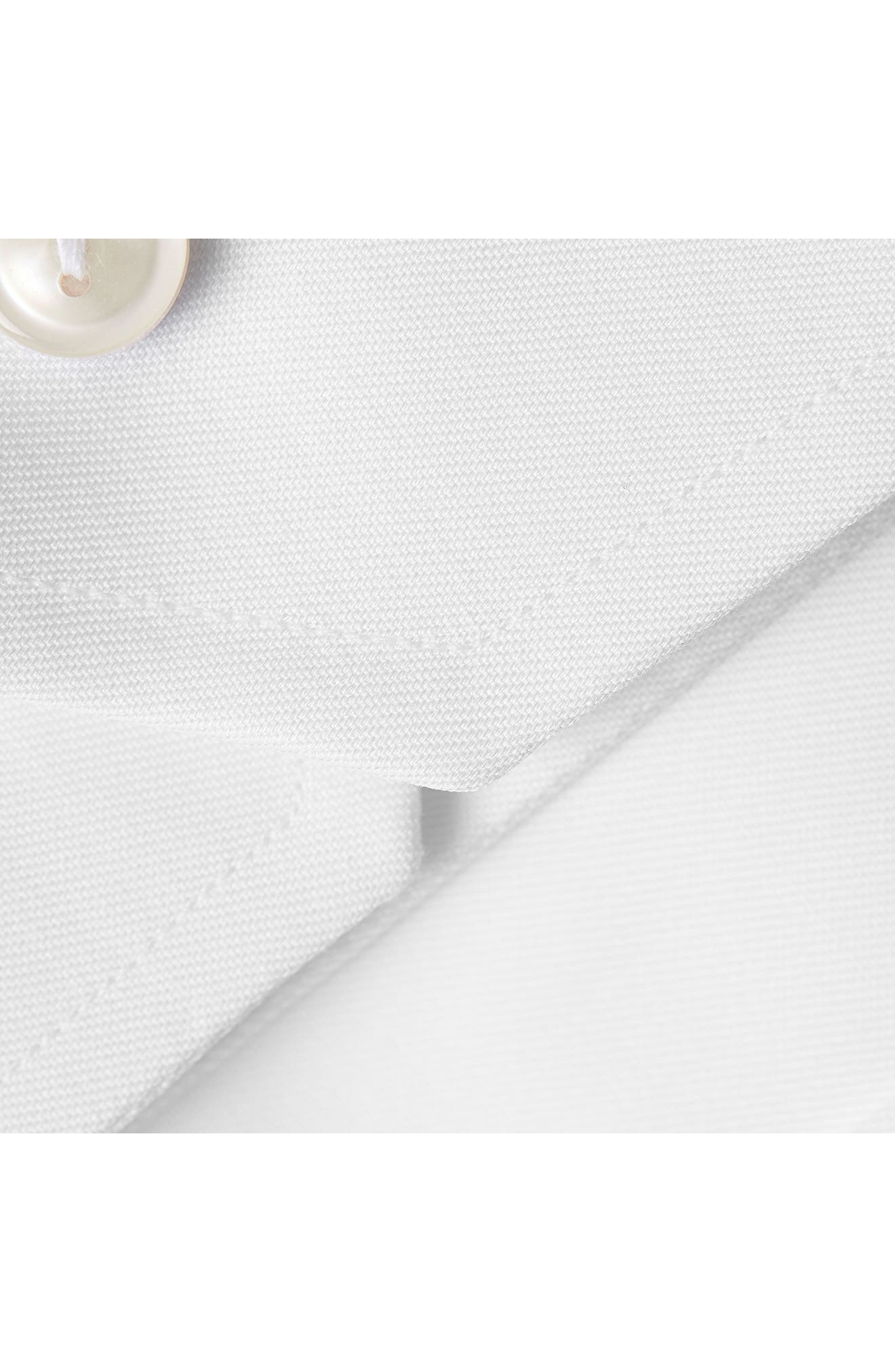 Classic Fit Twill Dress Shirt,                             Alternate thumbnail 3, color,                             WHITE