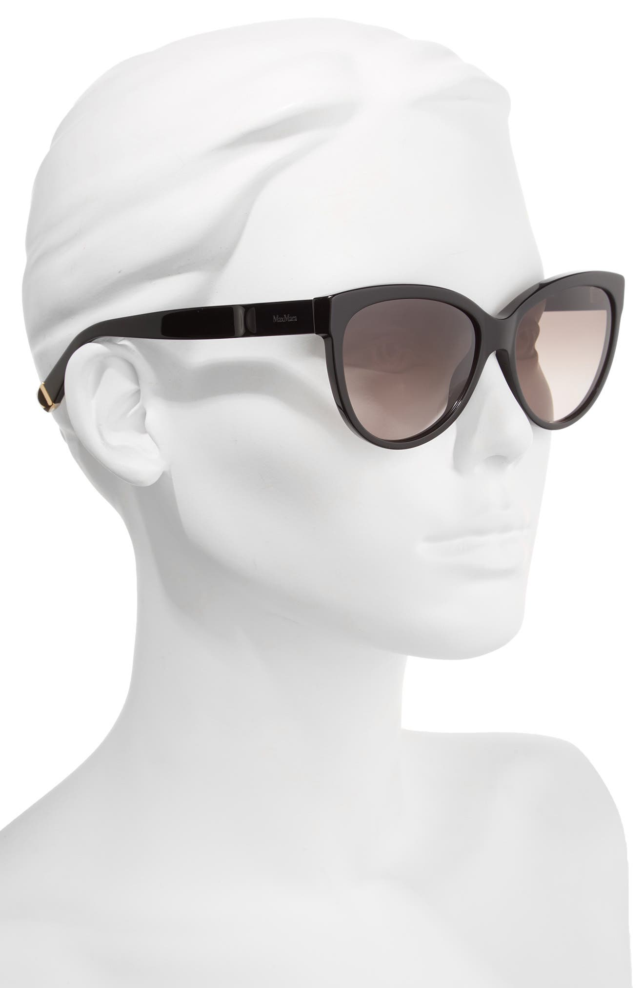 Moderii 57mm Gradient Cat Eye Sunglasses,                             Alternate thumbnail 2, color,                             001