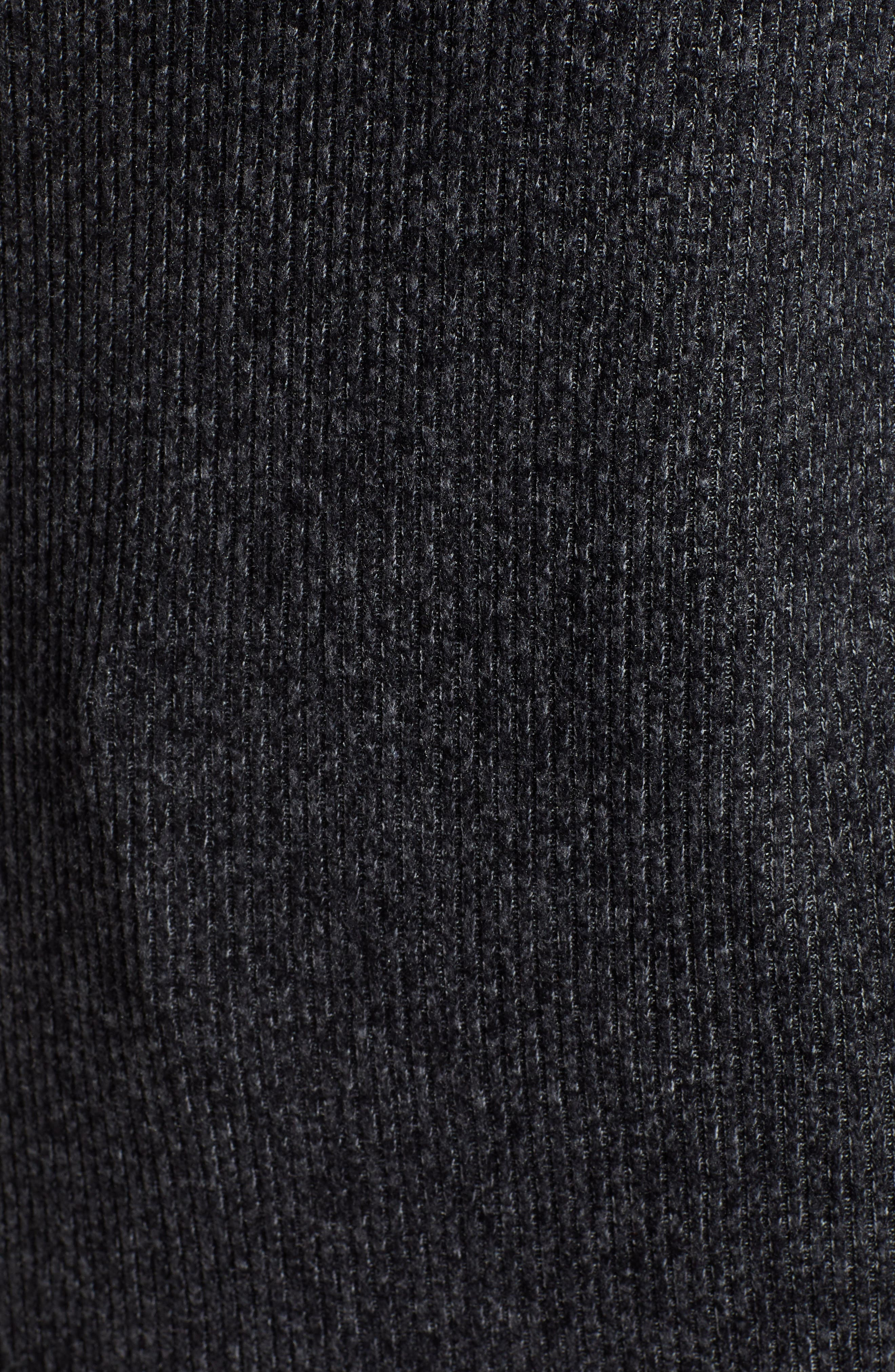 Ribbed Knit Top,                             Alternate thumbnail 5, color,                             001