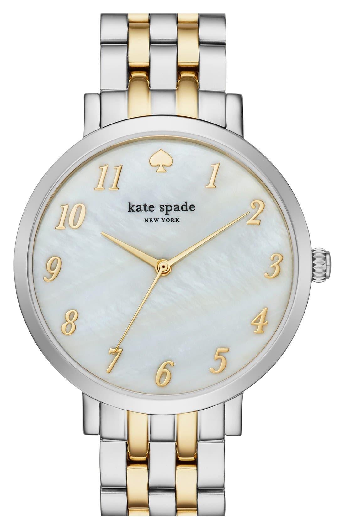 KATE SPADE NEW YORK,                             'monterey' bracelet watch, 38mm,                             Main thumbnail 1, color,                             040