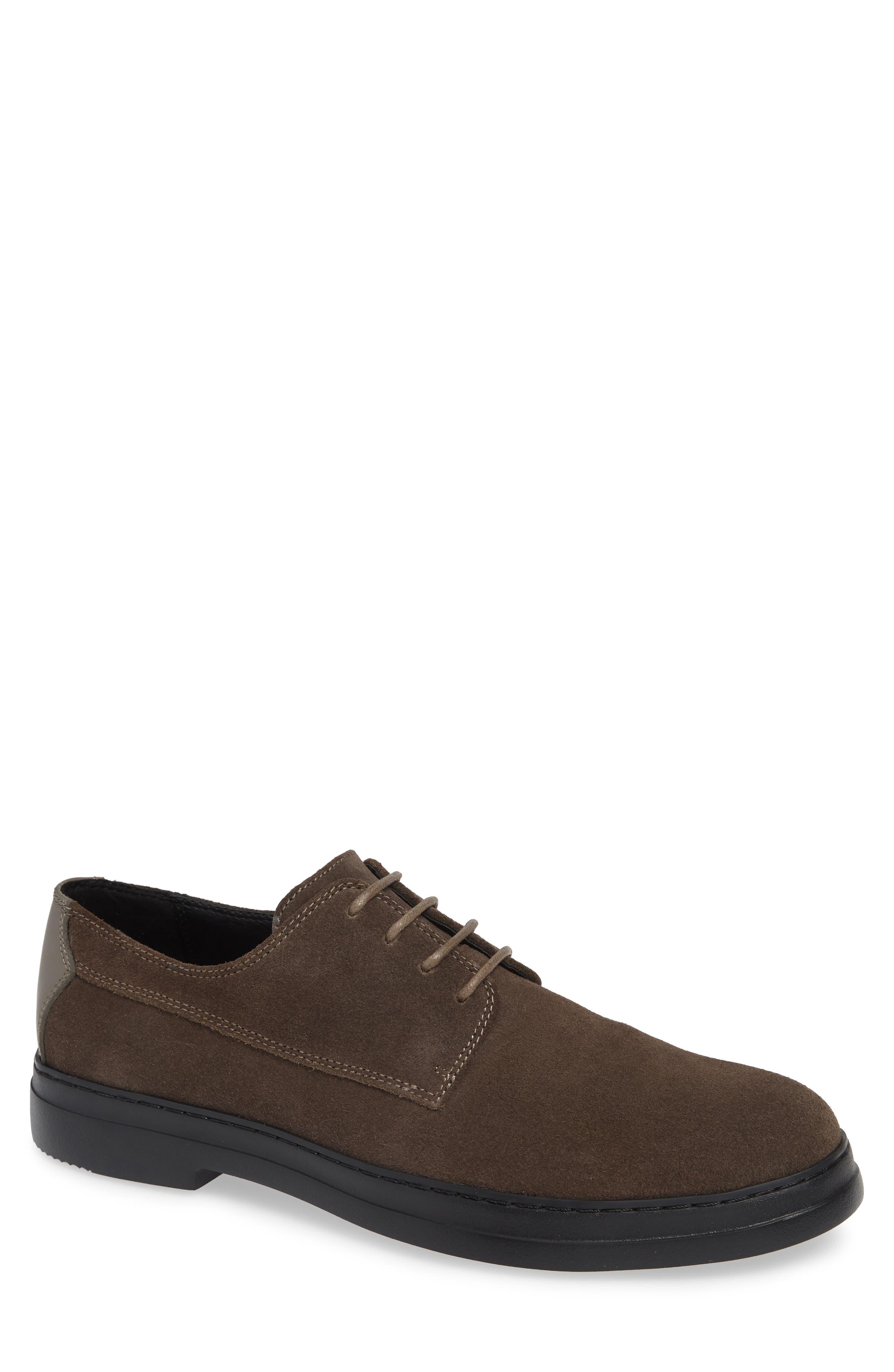Rickie Buck Shoe,                         Main,                         color, GREY STONE CALF SUEDE