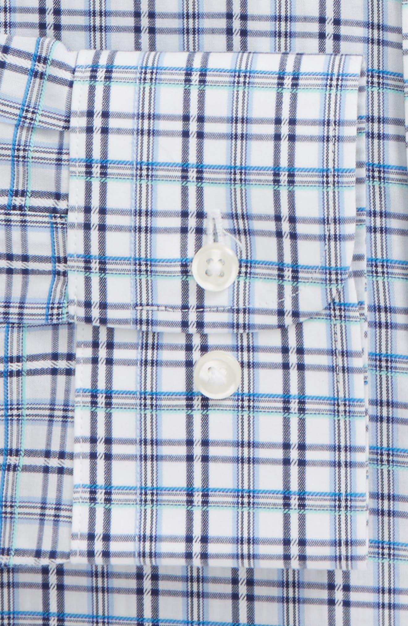 Smartcare<sup>™</sup> Trim Fit Plaid Dress Shirt,                             Alternate thumbnail 2, color,                             401