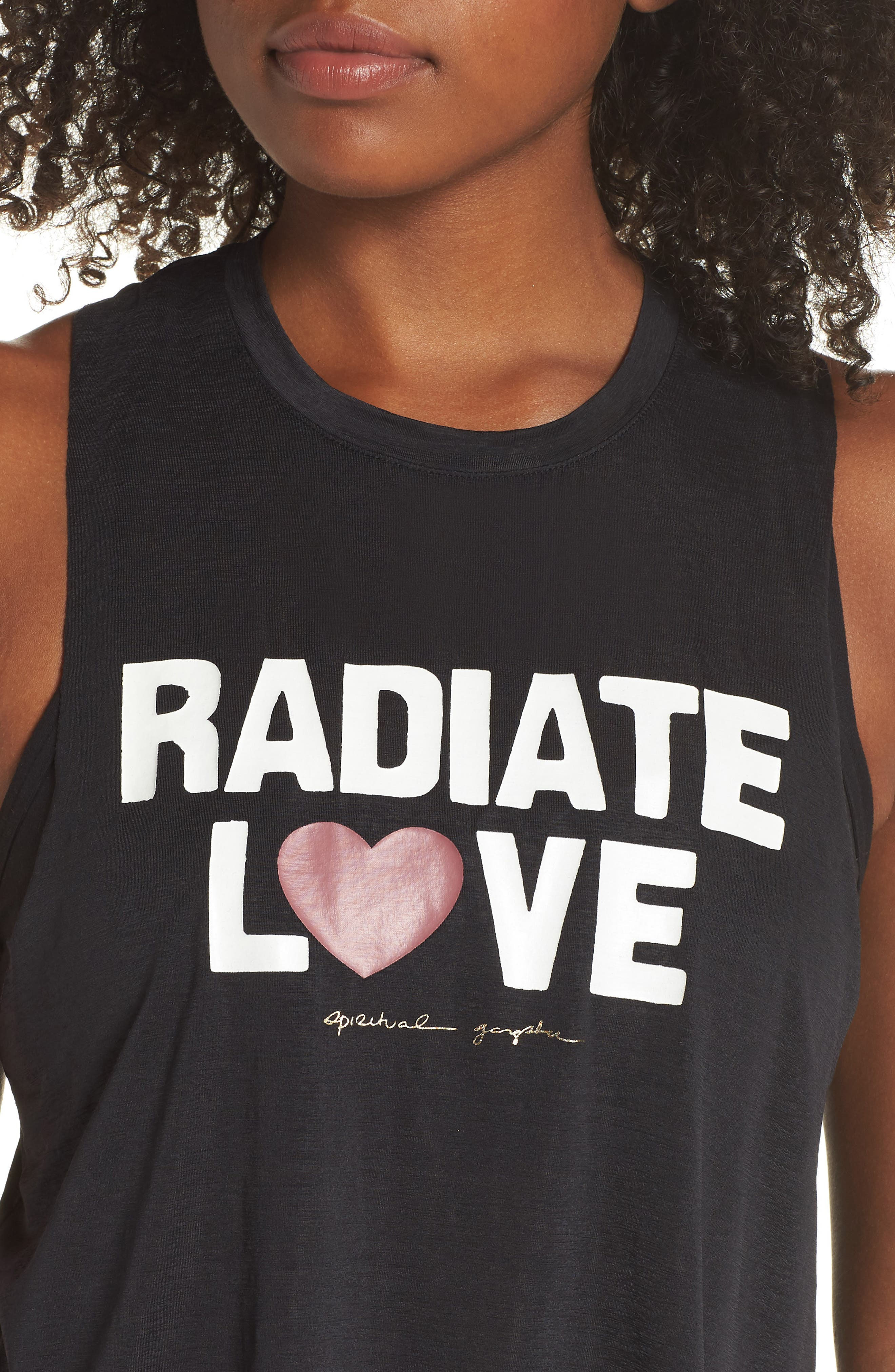 Radiate Love Crop Tank Top,                             Alternate thumbnail 4, color,                             003
