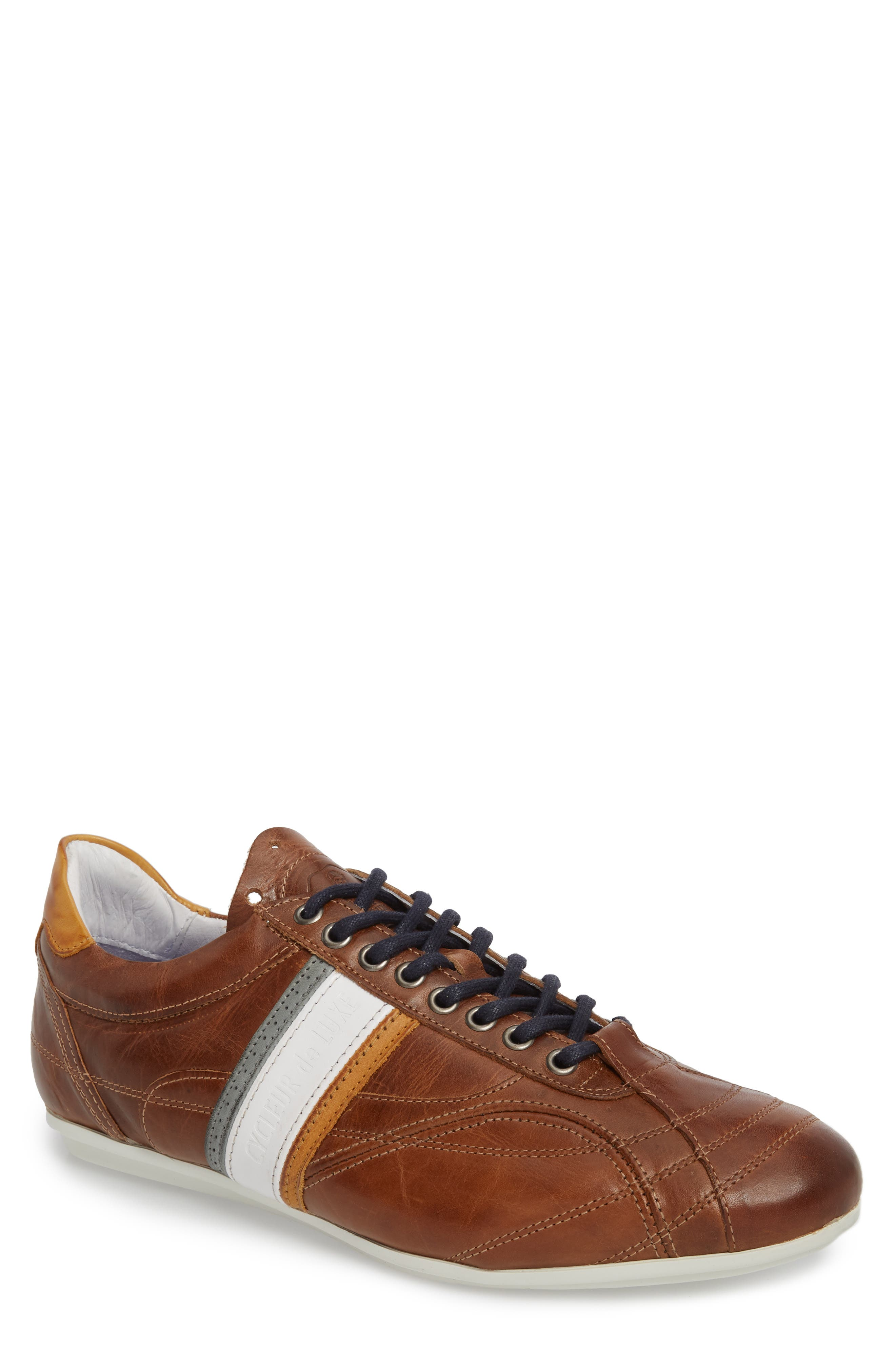 Crush City Low Top Sneaker,                         Main,                         color, COGNAC LEATHER