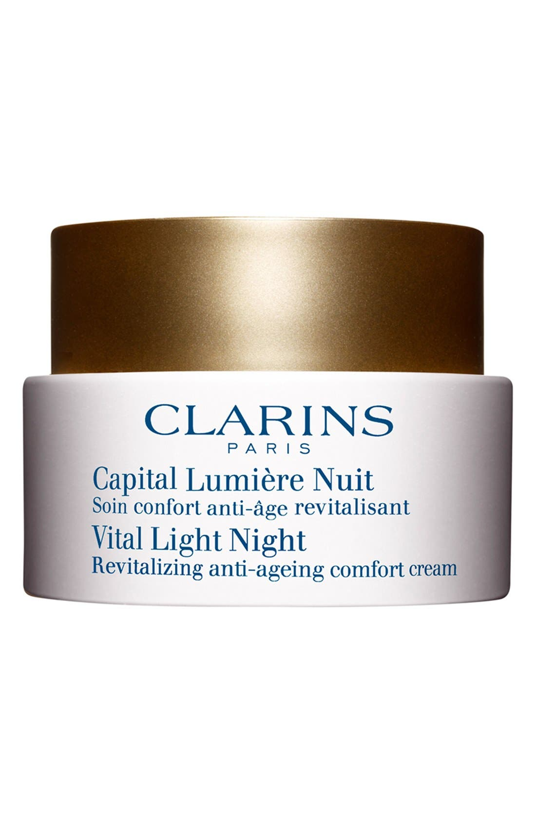 CLARINS,                             'Vital Light' Night Cream for Dry Skin,                             Main thumbnail 1, color,                             000