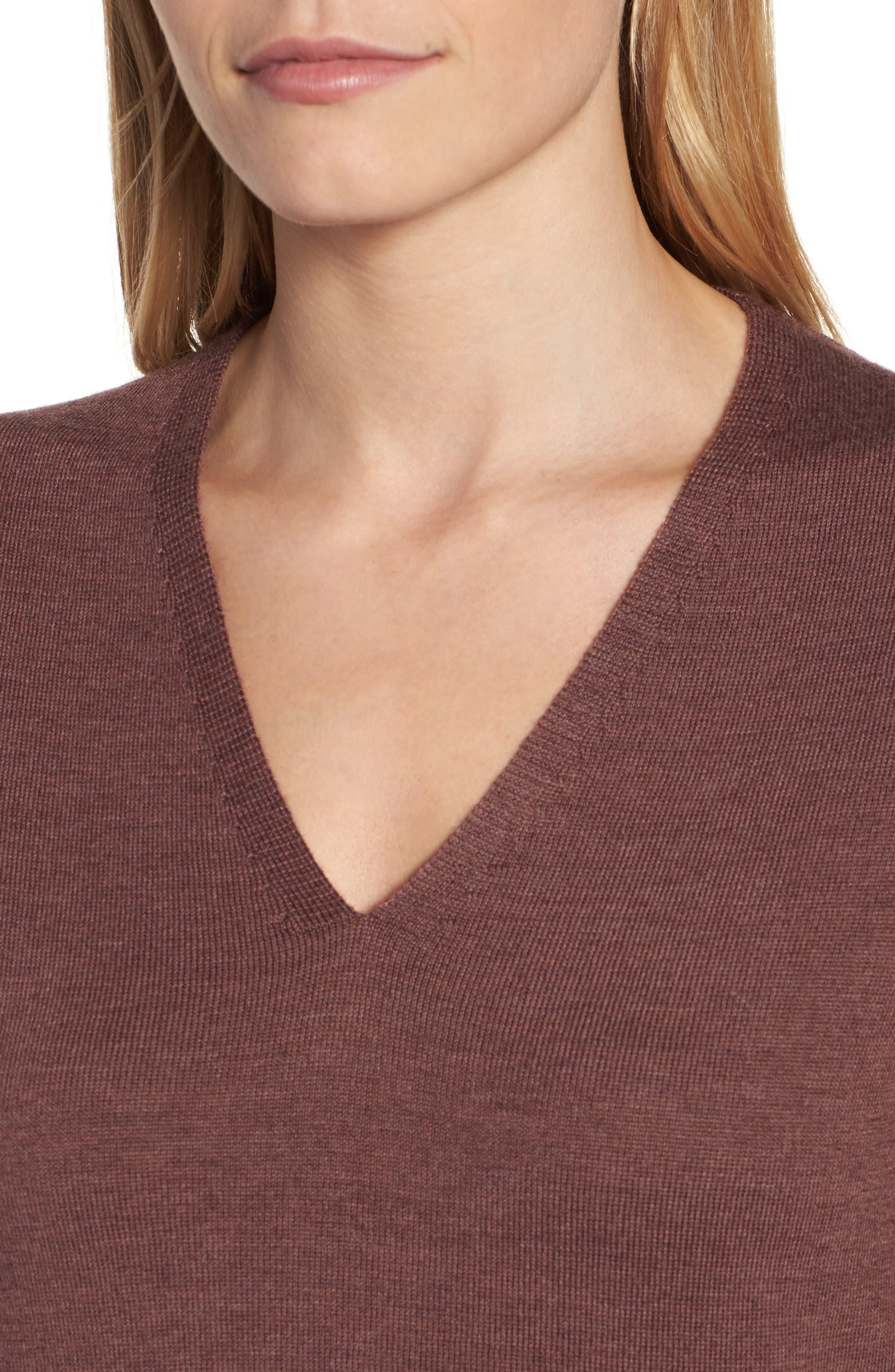 Lightweight Merino Jersey V-Neck Tunic,                             Alternate thumbnail 78, color,