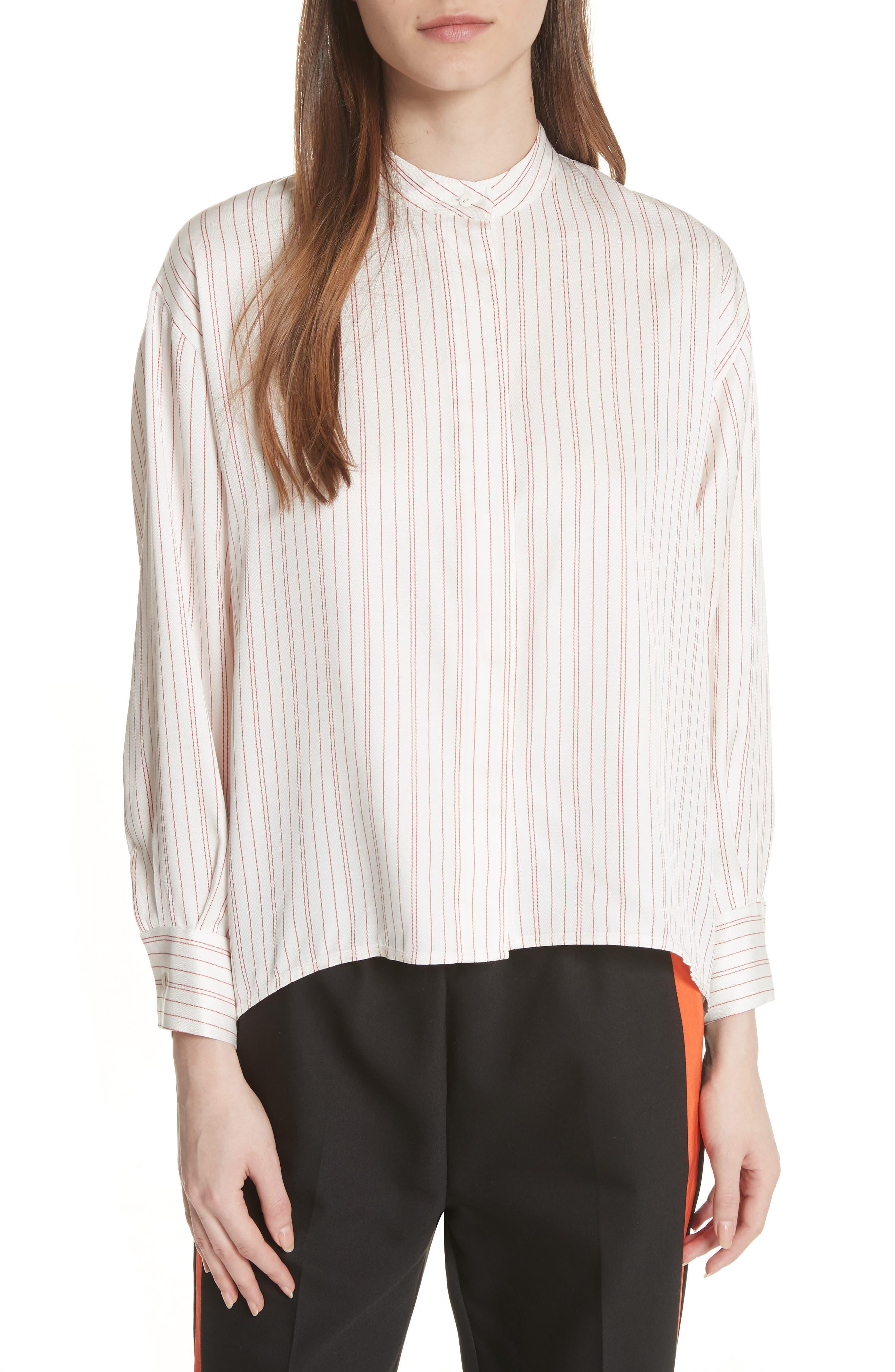 Stripe High/Low Blouse,                         Main,                         color, 100